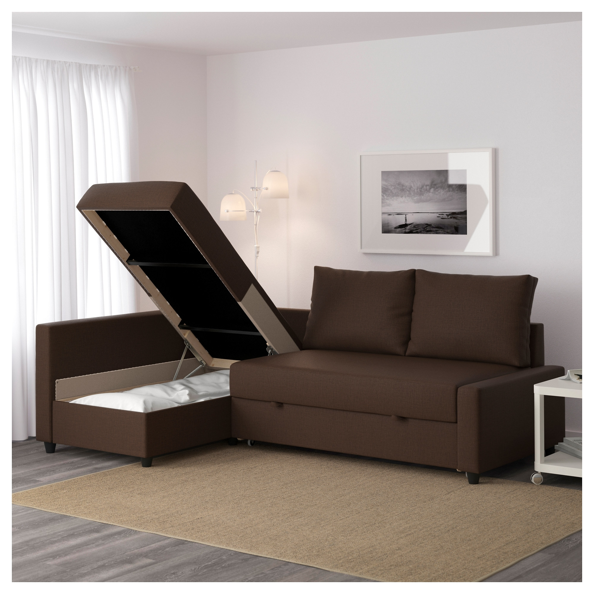 Friheten Corner Sofa-Bed With Storage - Skiftebo Dark Gray - Ikea regarding Ikea Corner Sofas With Storage (Image 2 of 10)