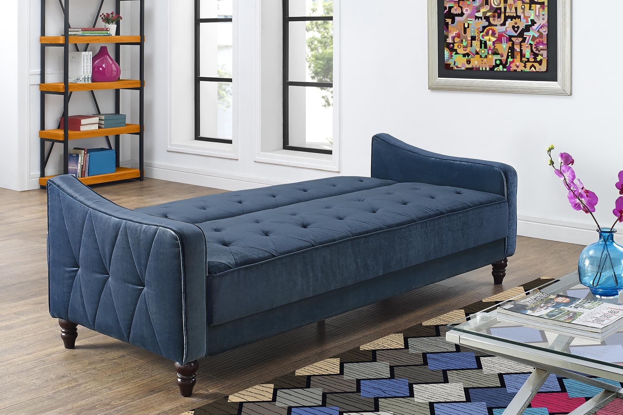 Furniture Amusing Walmart Sofas For Home Ideas Press Blue Tufted Intended For Sectional Sofas At Walmart (View 4 of 15)