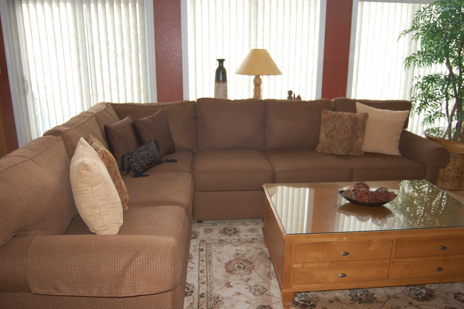 Furniture: Beige Ethan Allen Sectional Sofas With Feizy Rug And in Sectional Sofas at Ethan Allen (Image 4 of 10)