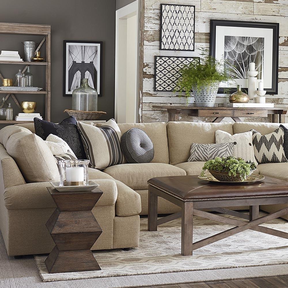 Furniture: Elegant Beige Sectional Sofavaughan Bassett Furniture in Vaughan Sectional Sofas (Image 5 of 10)