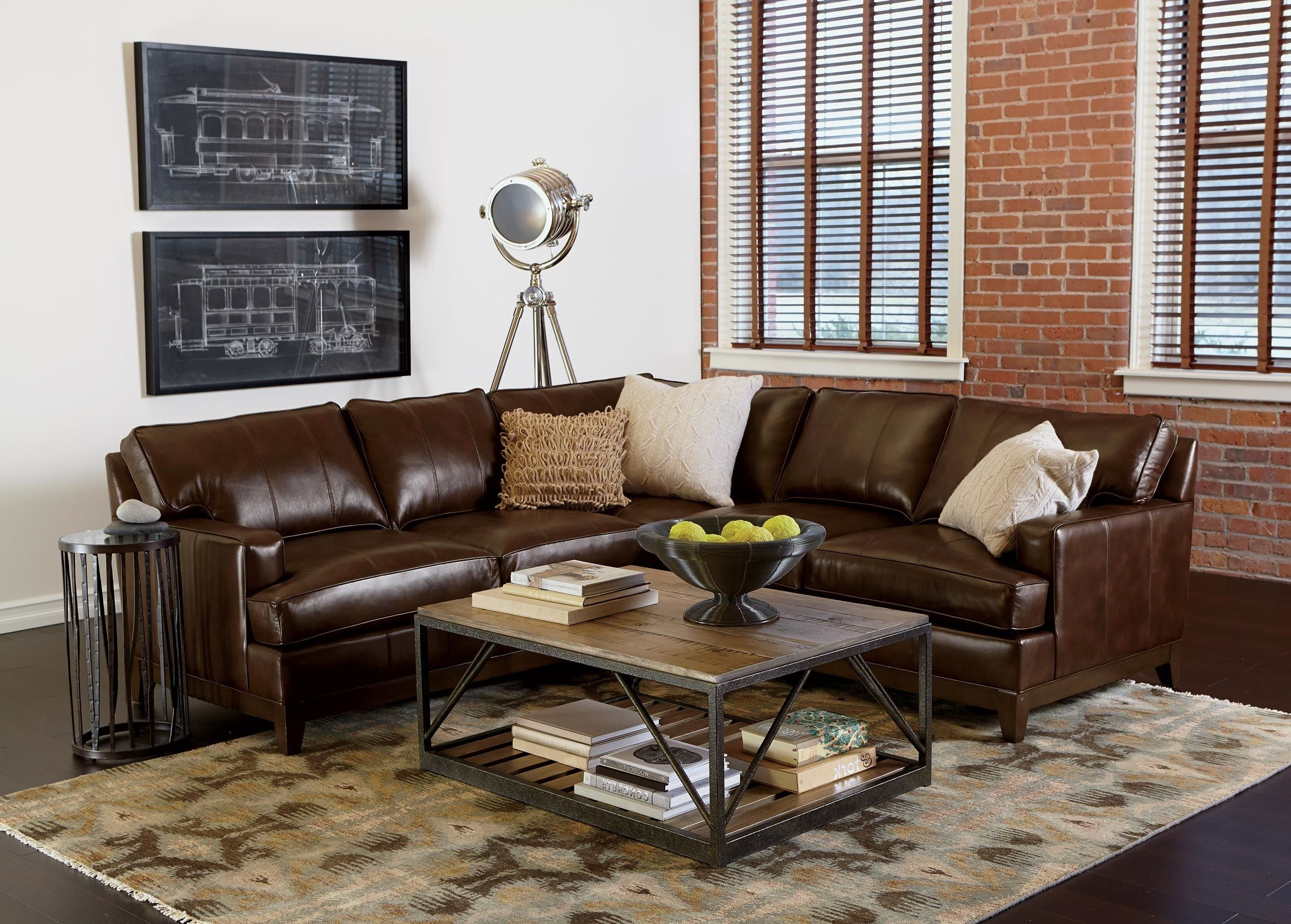 Furniture: Elegant Brown Ethan Allen Sectional Sofas Furniture In A in Sectional Sofas at Ethan Allen (Image 5 of 10)