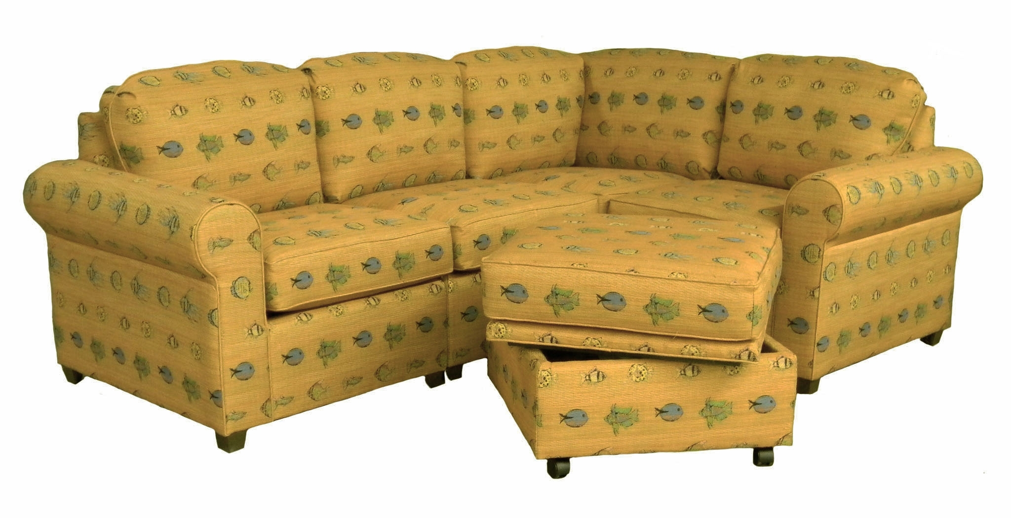 Furniture: Fabric Upholstery For Sectional Couches With Ottoman inside Sectional Sleeper Sofas With Ottoman (Image 6 of 15)