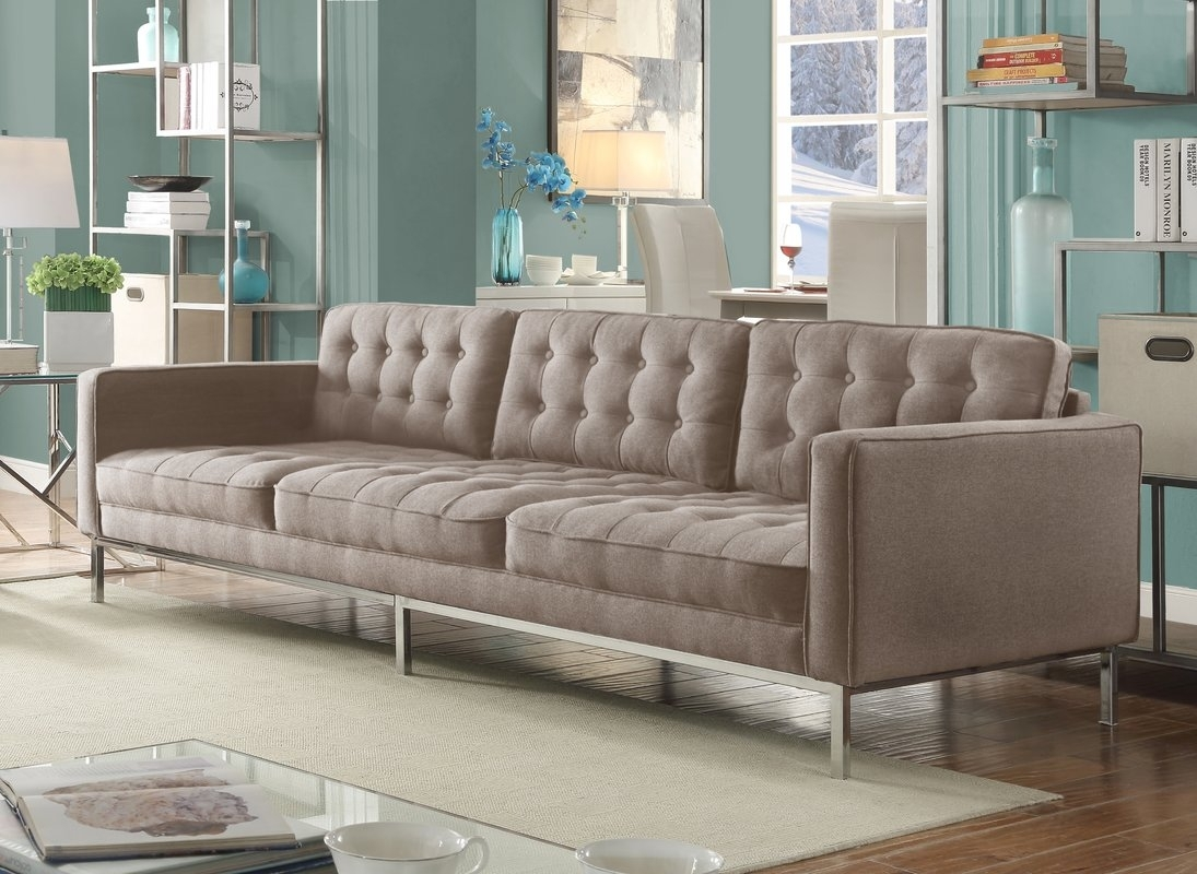 Furniture : Green Tufted Chaise Lounge Furniture Making Ottawa for Kitchener Sectional Sofas (Image 5 of 10)