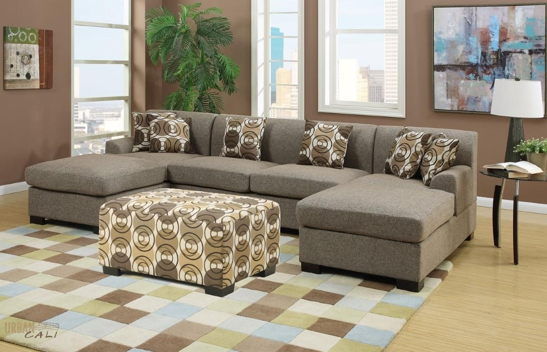 Furniture: Hayward Sandstone Small U Shaped Sectional Sofa Set for Deep U Shaped Sectionals (Image 9 of 15)