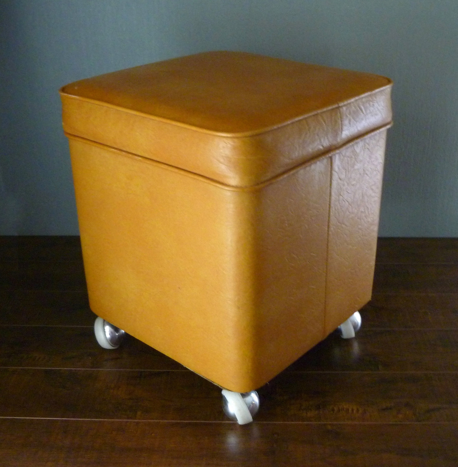 Furniture: Leather Yellow Ottoman With Small Leather Storage Ottoman for Ottomans With Wheels (Image 5 of 15)