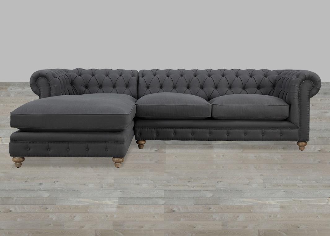 Furniture : Modern Tufted Sleeper Sofa Geovany Leather Tufted Sofa Regarding Oshawa Sectional Sofas (View 5 of 10)