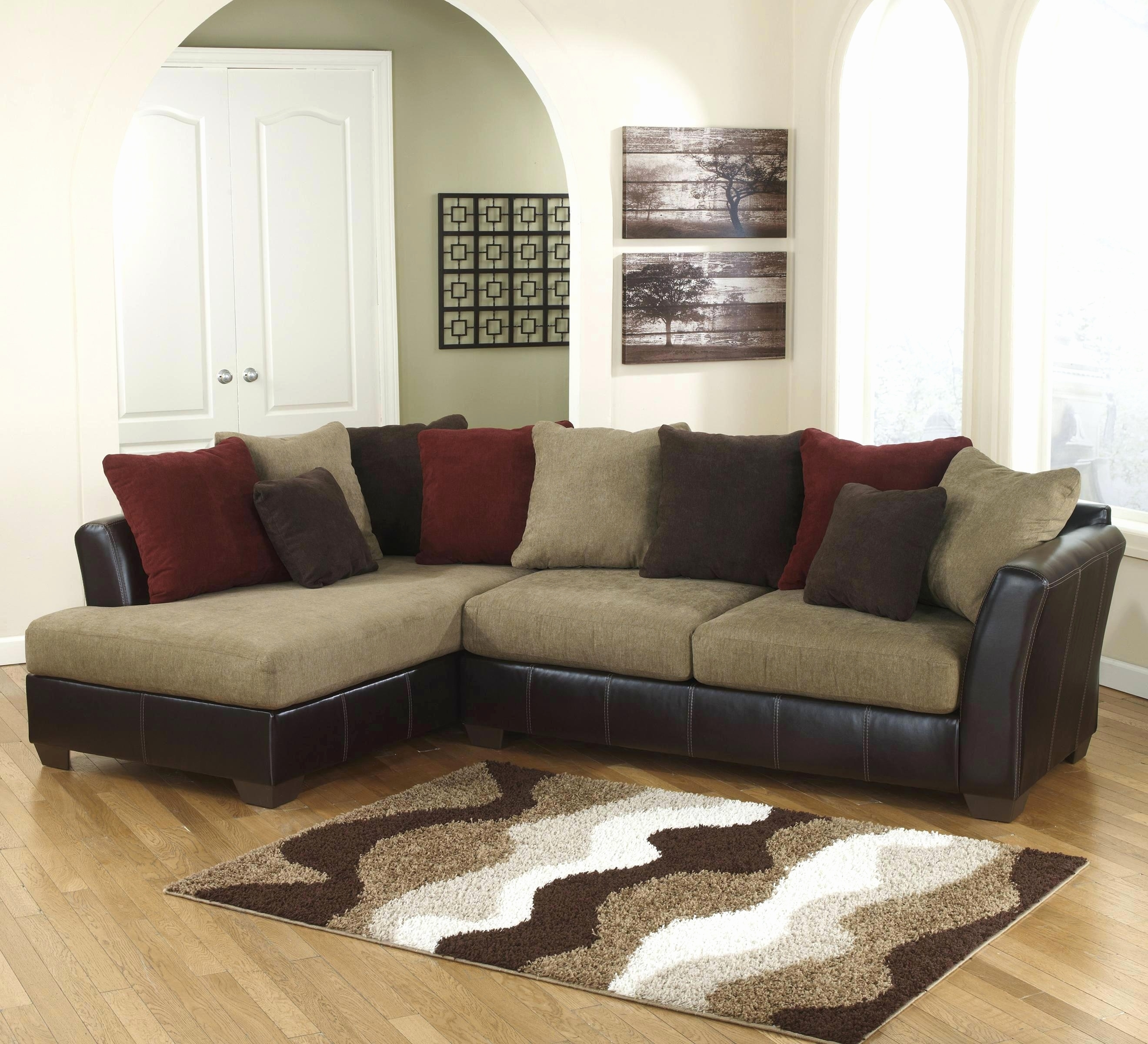 Furniture : New Ashley Furniture Sectional Sofas 2018 E28093 Couches for Sectional Sofas at Ashley (Image 10 of 15)