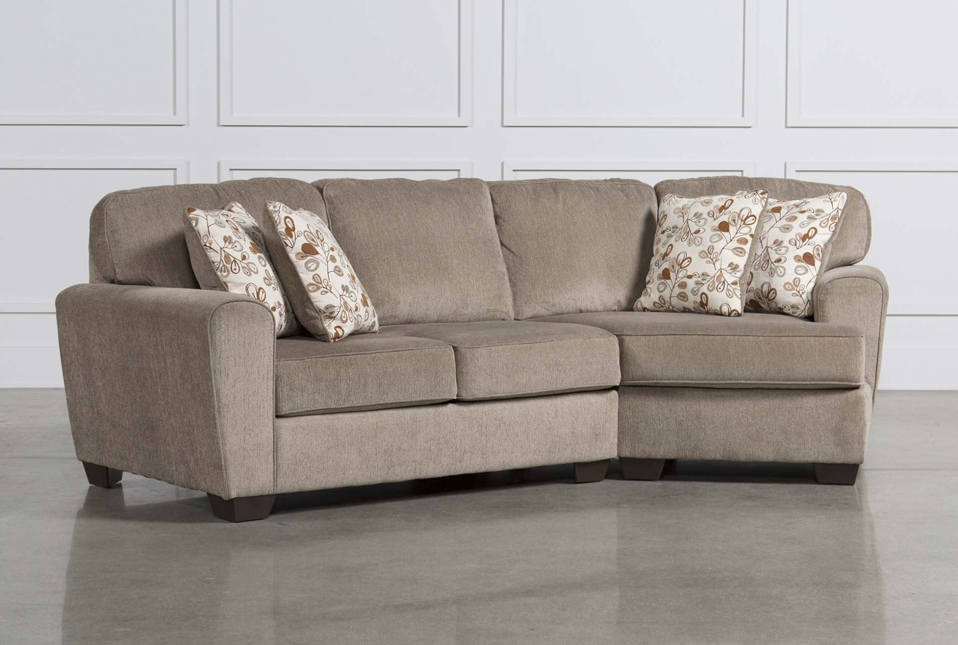 Furniture: Patola Park 4 Piece Sectional W Raf Cuddler Living Spaces throughout Sectional Sofas With Cuddler (Image 5 of 10)