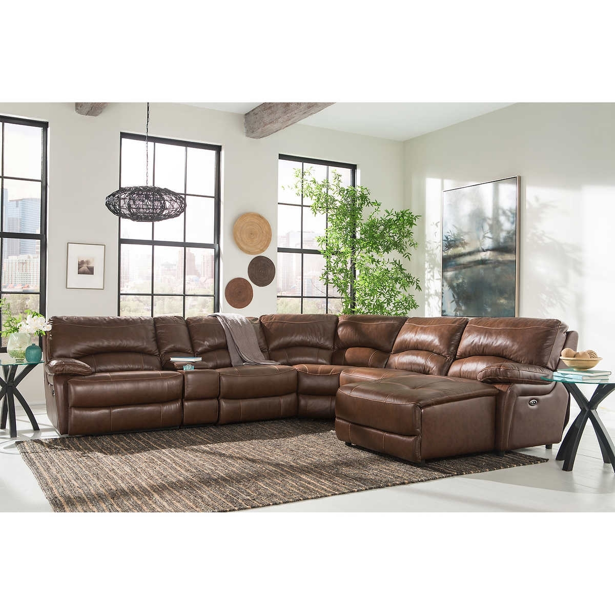 Furniture: Sofa 6 Piece Leather Sectional Sofa Cooper 6 Piece Leather with 6 Piece Leather Sectional Sofas (Image 7 of 10)