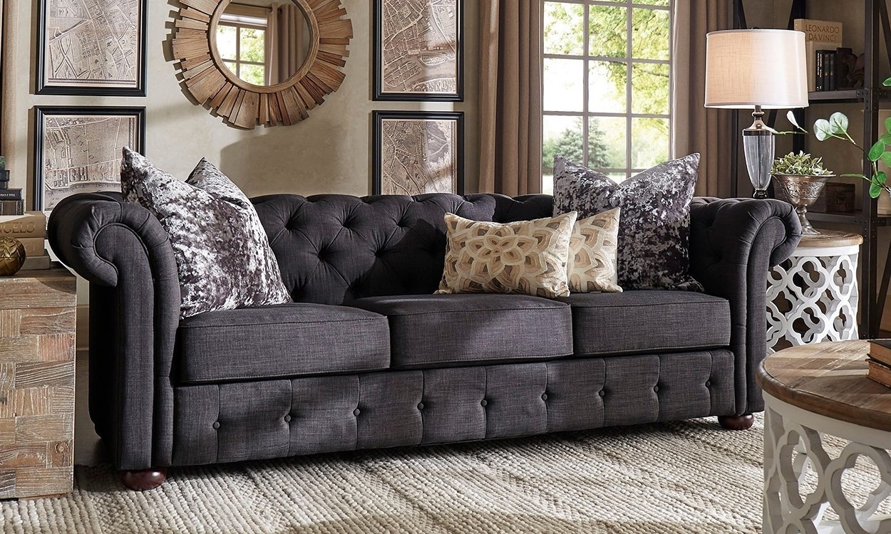 Furniture : Sofa With Chaise Leather Grey Sofa In Family Room with regard to Joplin Mo Sectional Sofas (Image 3 of 10)