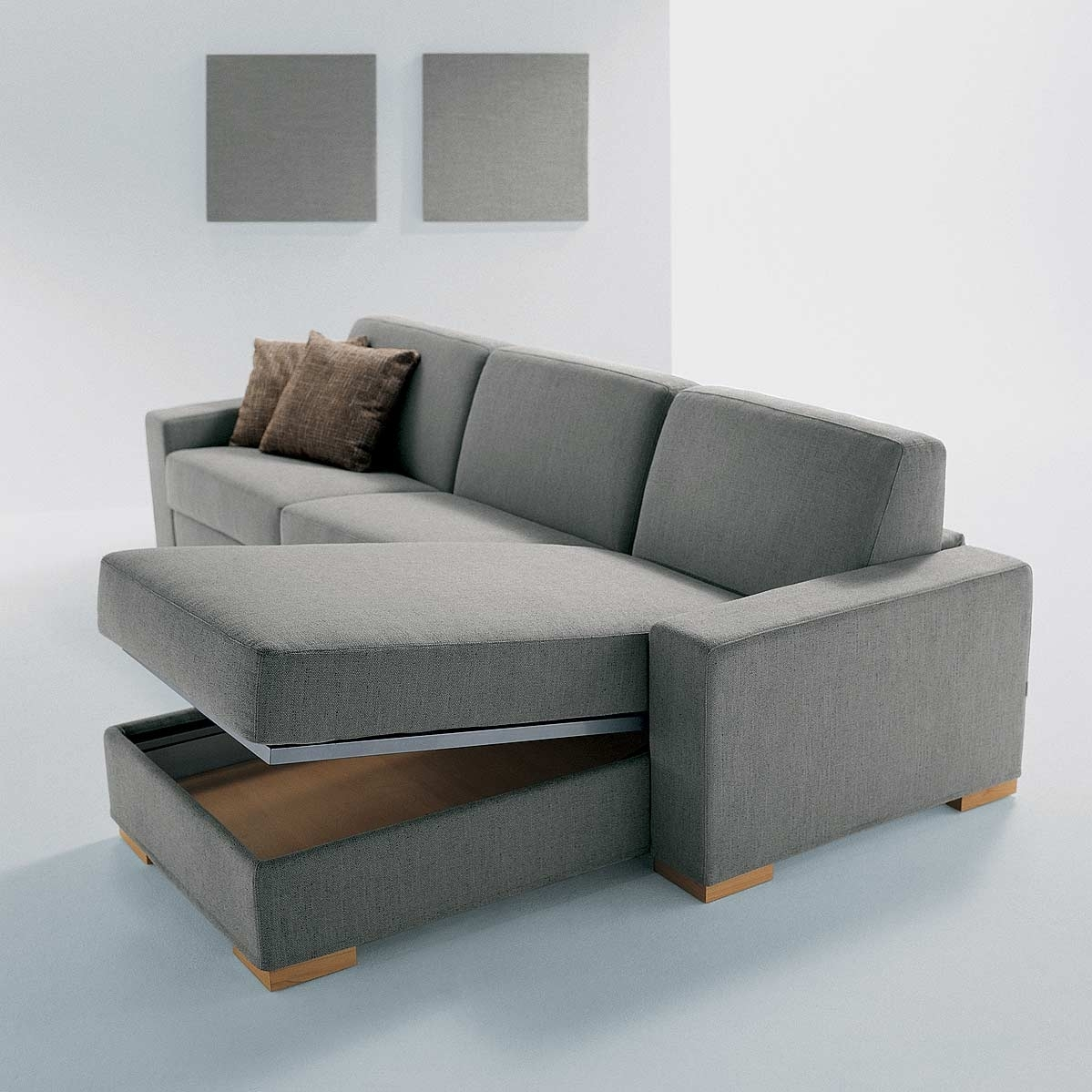 Furniture : Sofa With Drawers Fabric Sectional Sofas With Chaise with Sectional Sofas With Storage (Image 2 of 10)