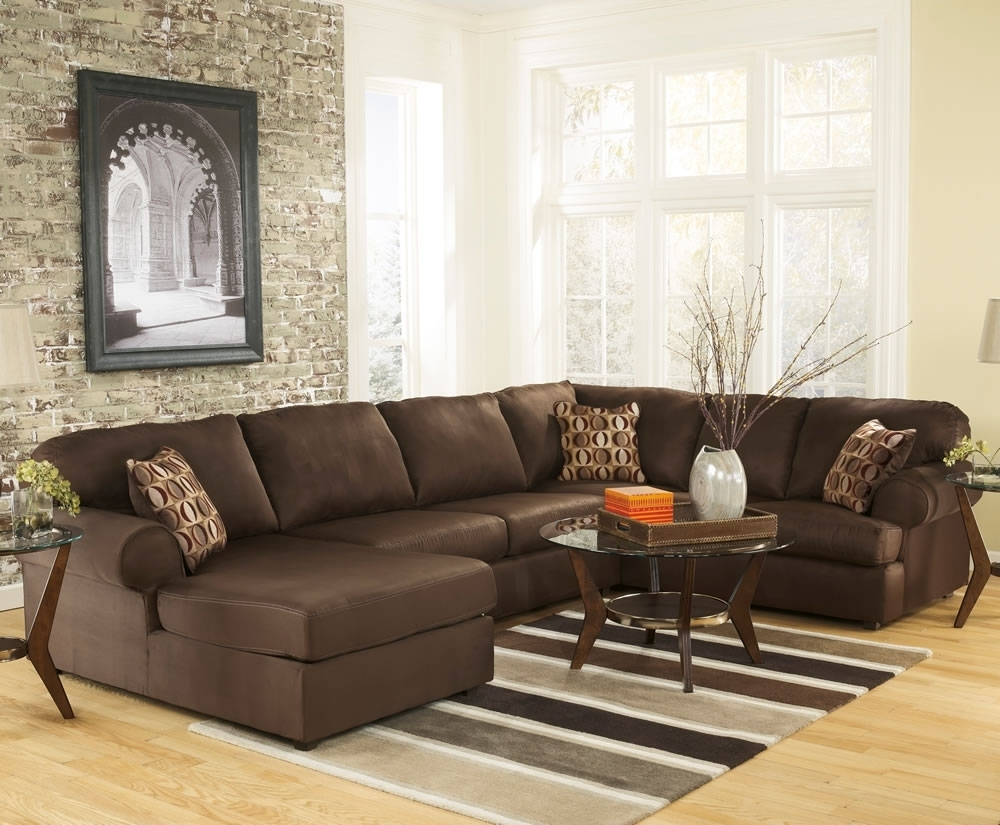 Furniture: U Shaped Leather Sectional Sofa Has One Of The Best Kind pertaining to U Shaped Leather Sectional Sofas (Image 5 of 10)
