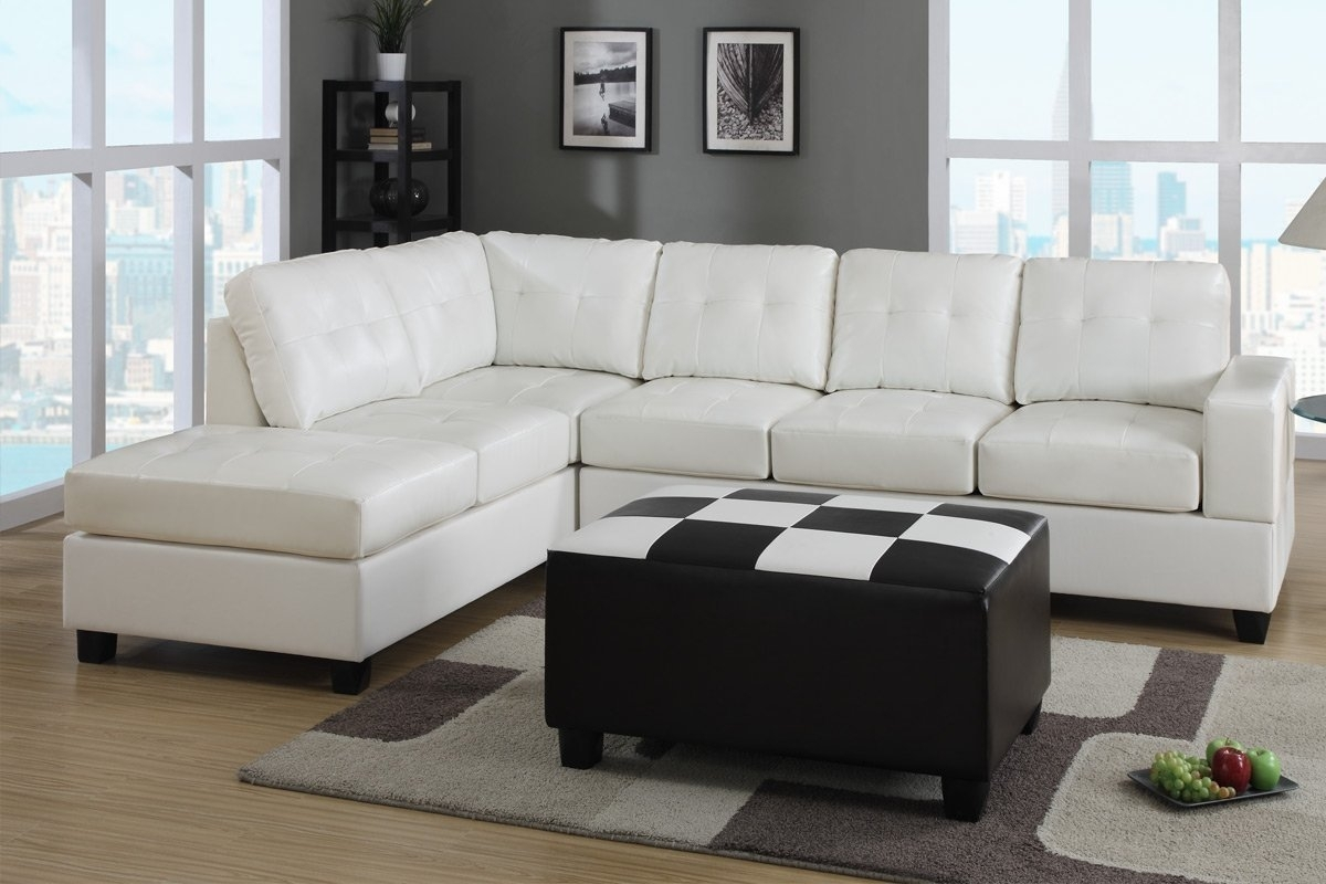 Furniture: White Leather Sectional Sleeper Sofa Be Equipped With For Sectional Sleeper Sofas With Ottoman (View 7 of 15)