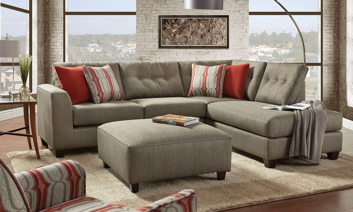 Fusion Handmade American Chaise Sectional Sofa With Ottom | The Dump In Sectionals With Chaise And Ottoman (View 8 of 15)