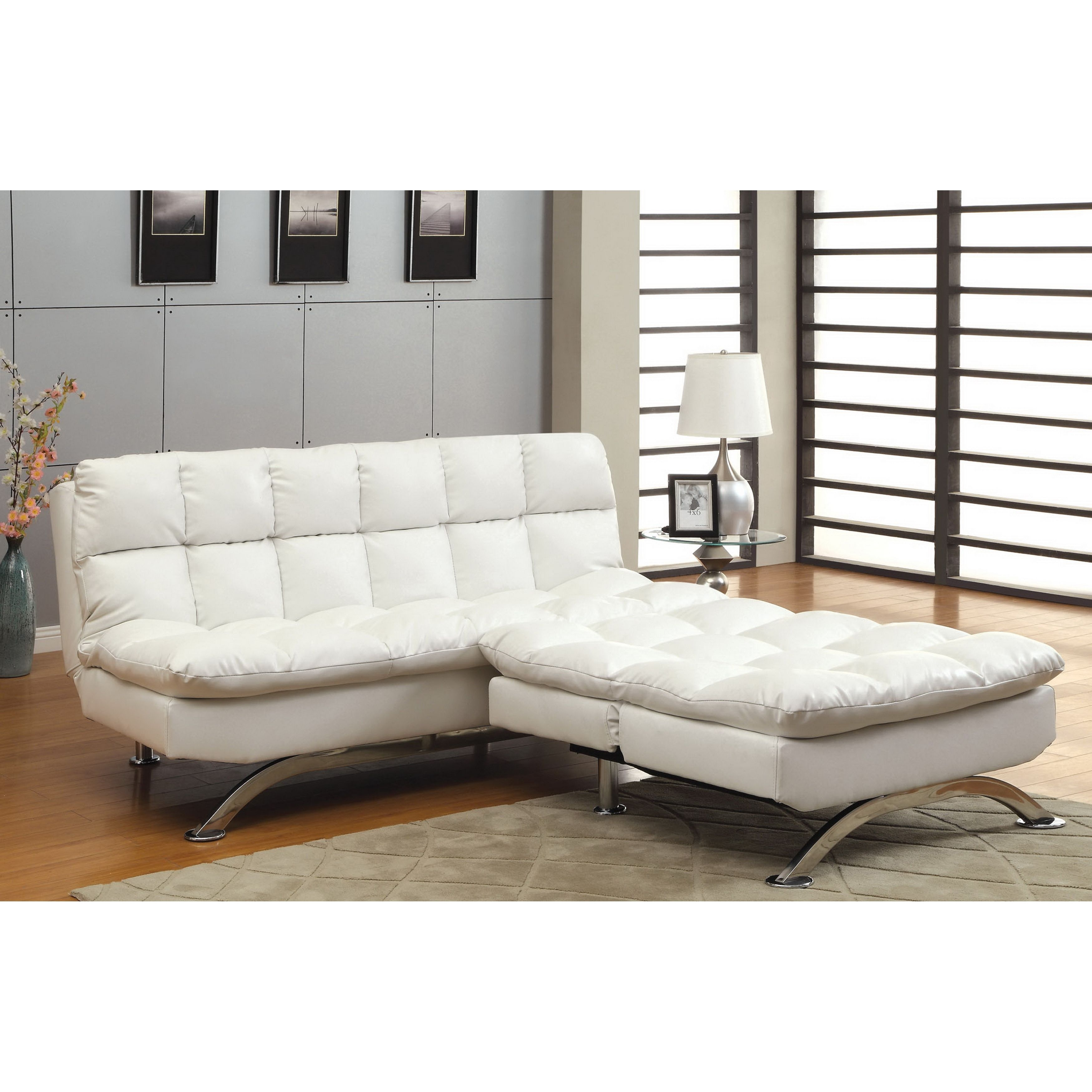 Futon Sofa Home Decor Furniture Modern Tufted Jamaica Convertible intended for Jamaica Sectional Sofas (Image 3 of 10)