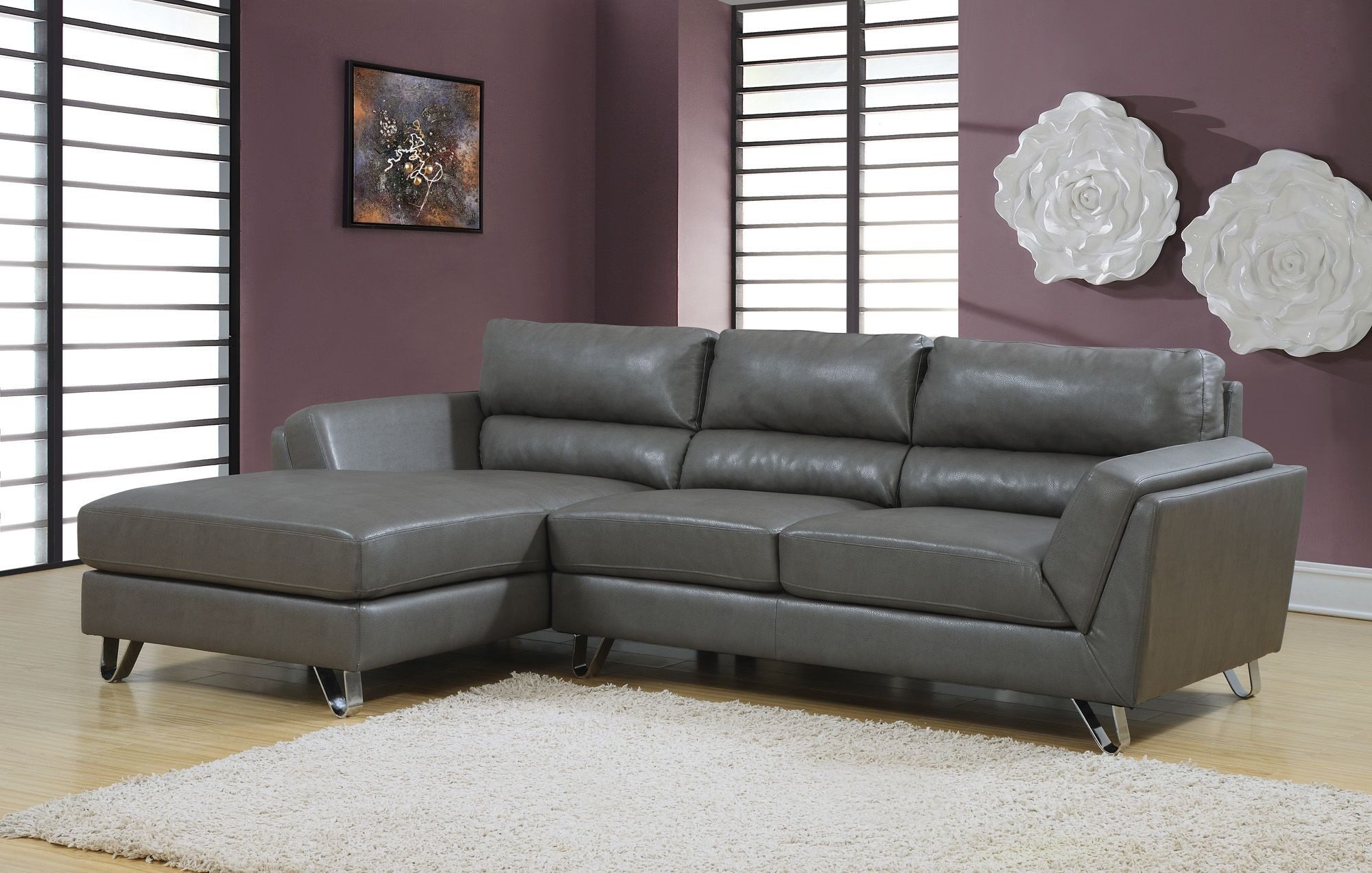 Gray Sectional Sofas Charcoal Sofa Match Frankfort Convertible Grey Inside Sectional Sofas In Stock (View 3 of 10)