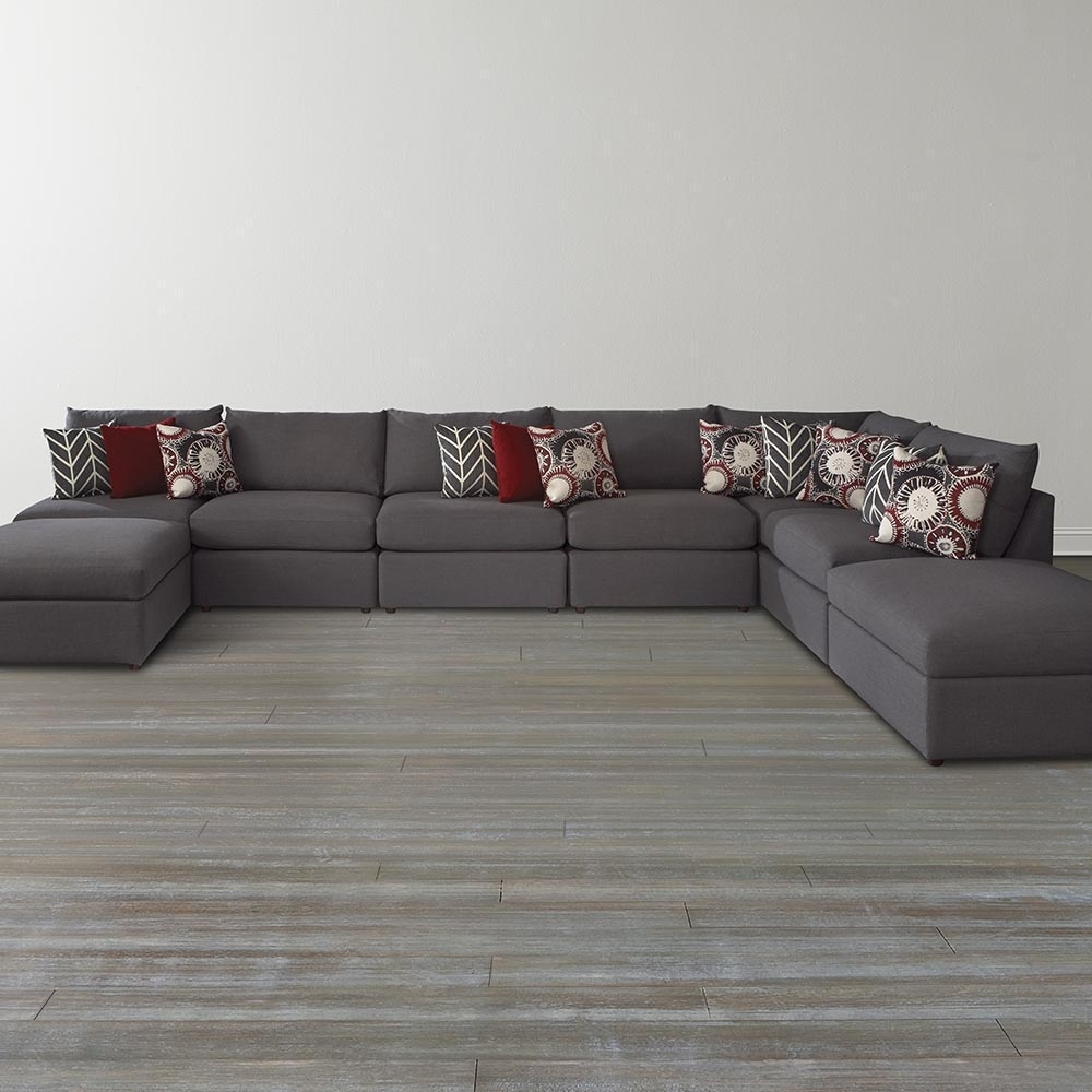 Gray U Shaped Sectional Sofa — Fabrizio Design : Fashionable U in Scarborough Sectional Sofas (Image 5 of 10)