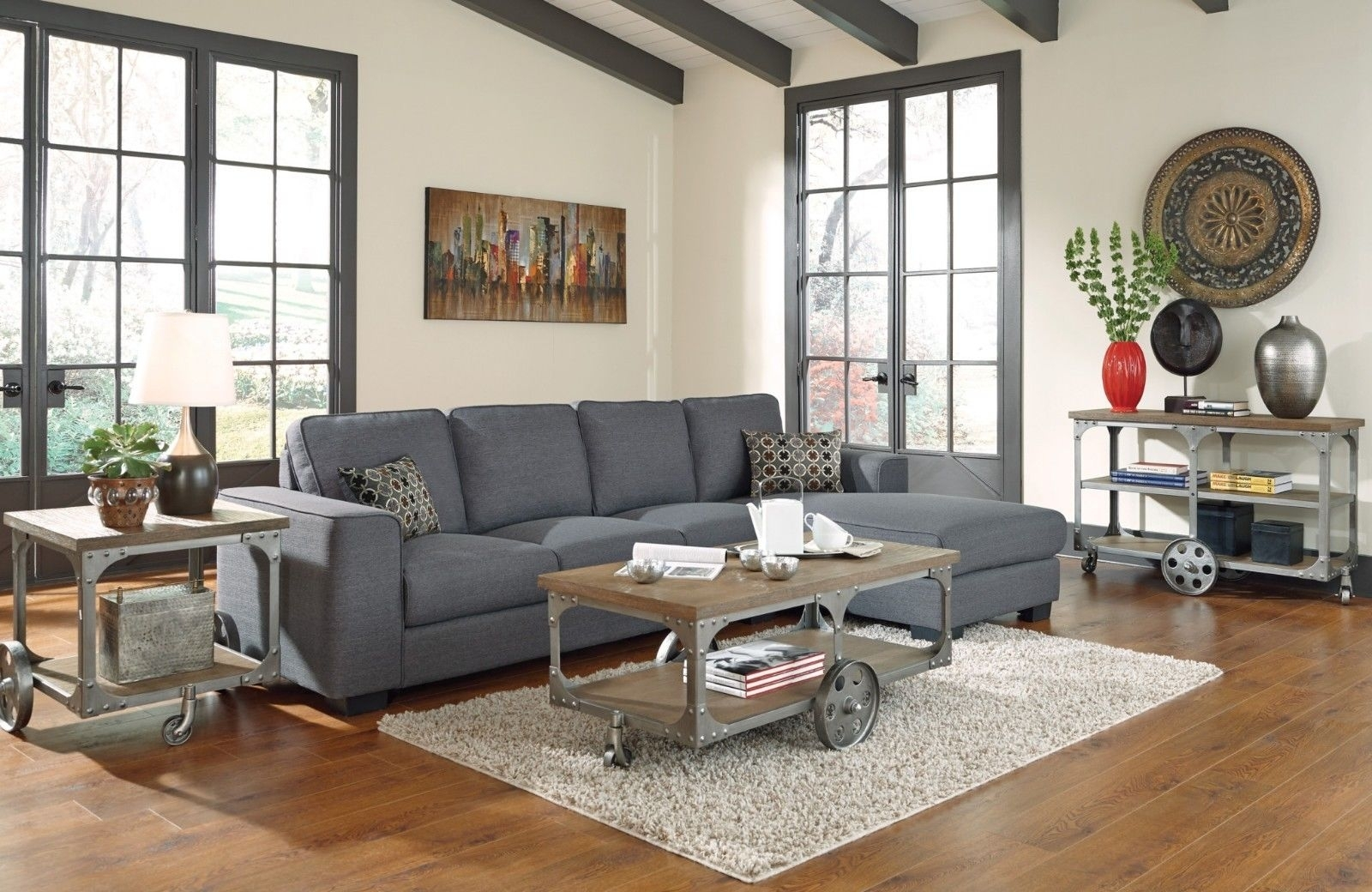 Grey Sectional Living Room Ideas Best Of Rustic Modern Living Room Within Sectional Sofas Decorating (View 4 of 10)
