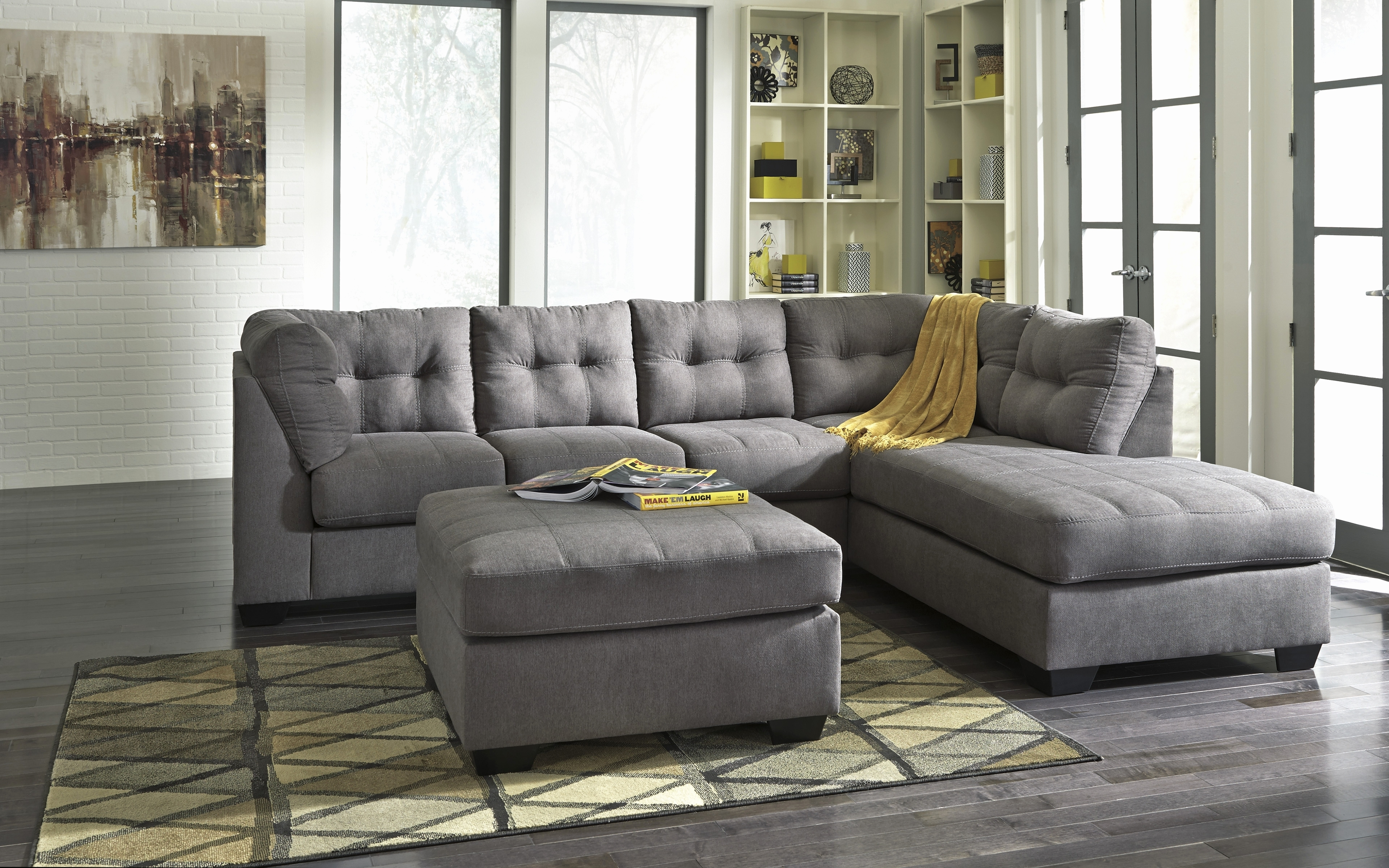 Grey Sectional Sofa Ashley Furniture 1025Theparty Com With Sofas Within Sectional Sofas At Ashley Furniture (View 11 of 15)