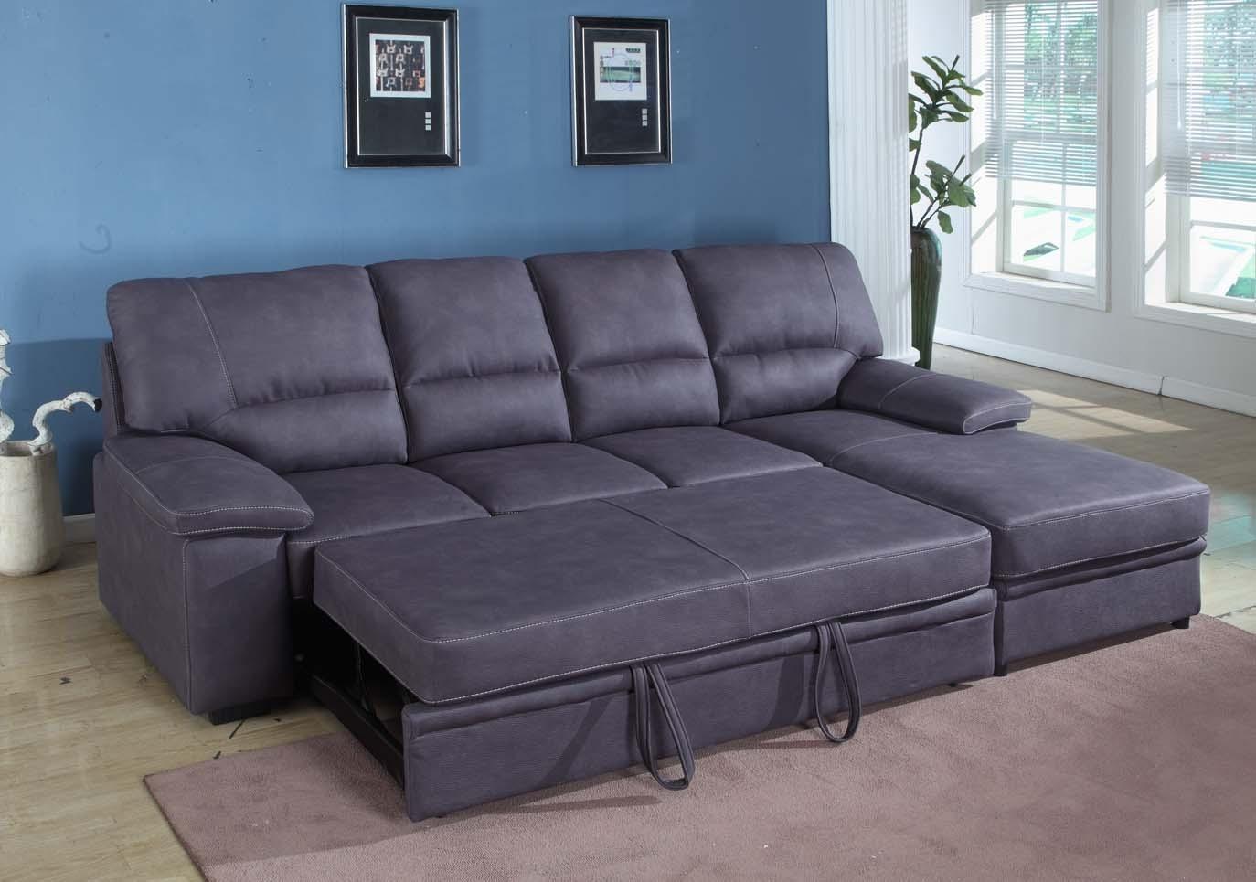 Grey Sleeper Sectional Sofa | Houston Mattress King With Sectional Sofas With Sleeper (View 8 of 10)