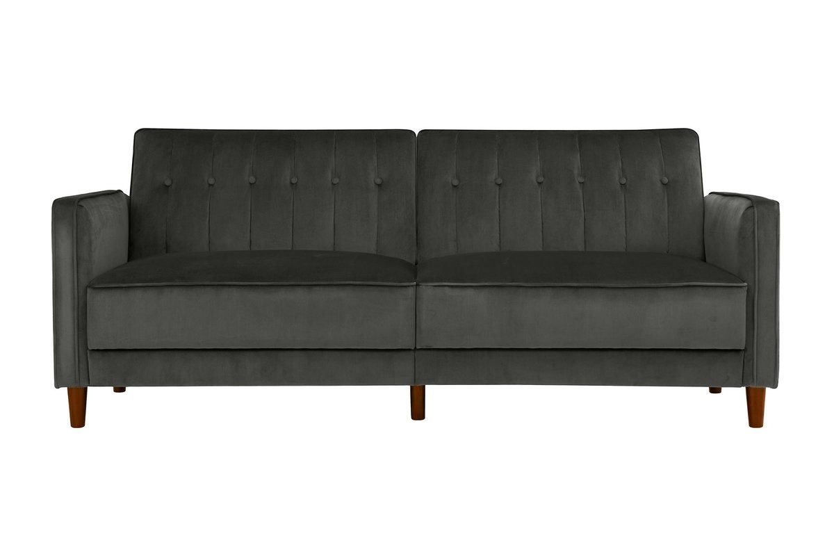 Hammondale Pin Tufted Convertible Sofa & Reviews | Allmodern in Convertible Sofas (Image 2 of 10)