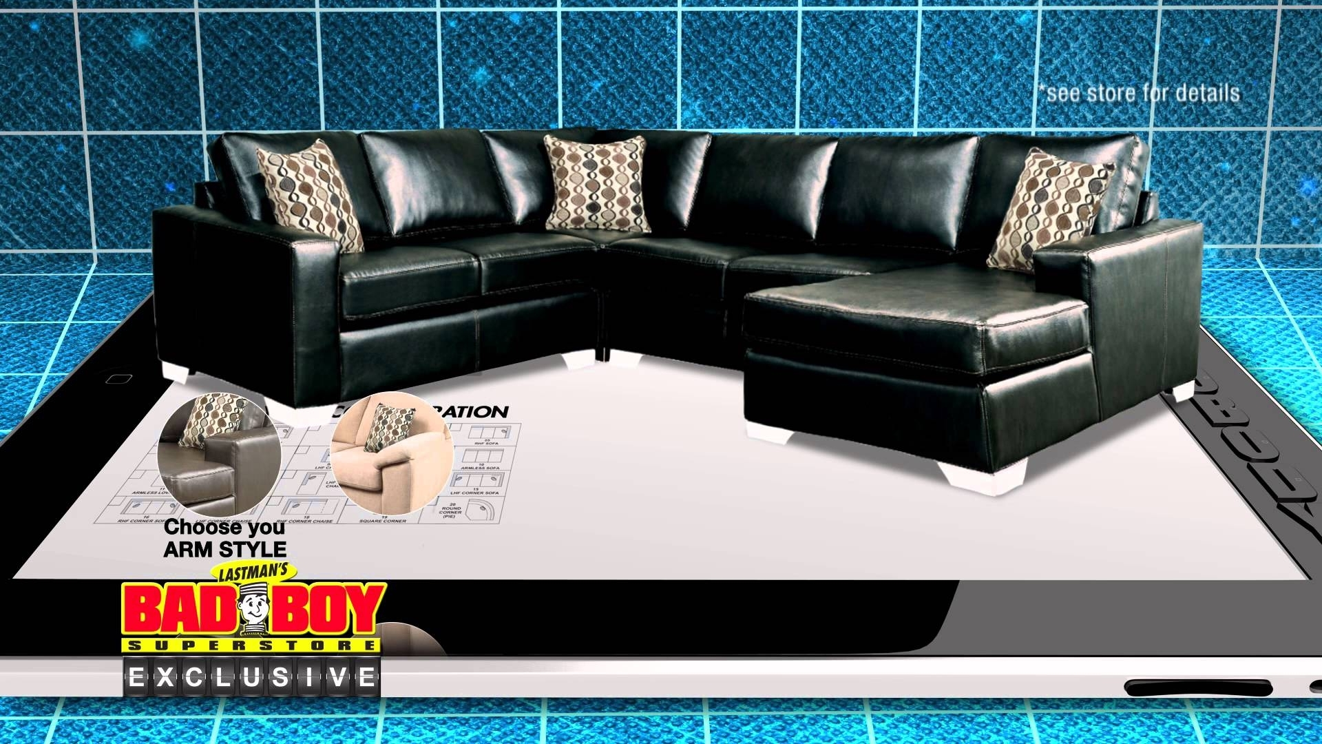 Have It Your Way, Customize Your Sofa At Lastman's Bad Boy – Youtube Throughout Sectional Sofas At Bad Boy (View 14 of 15)