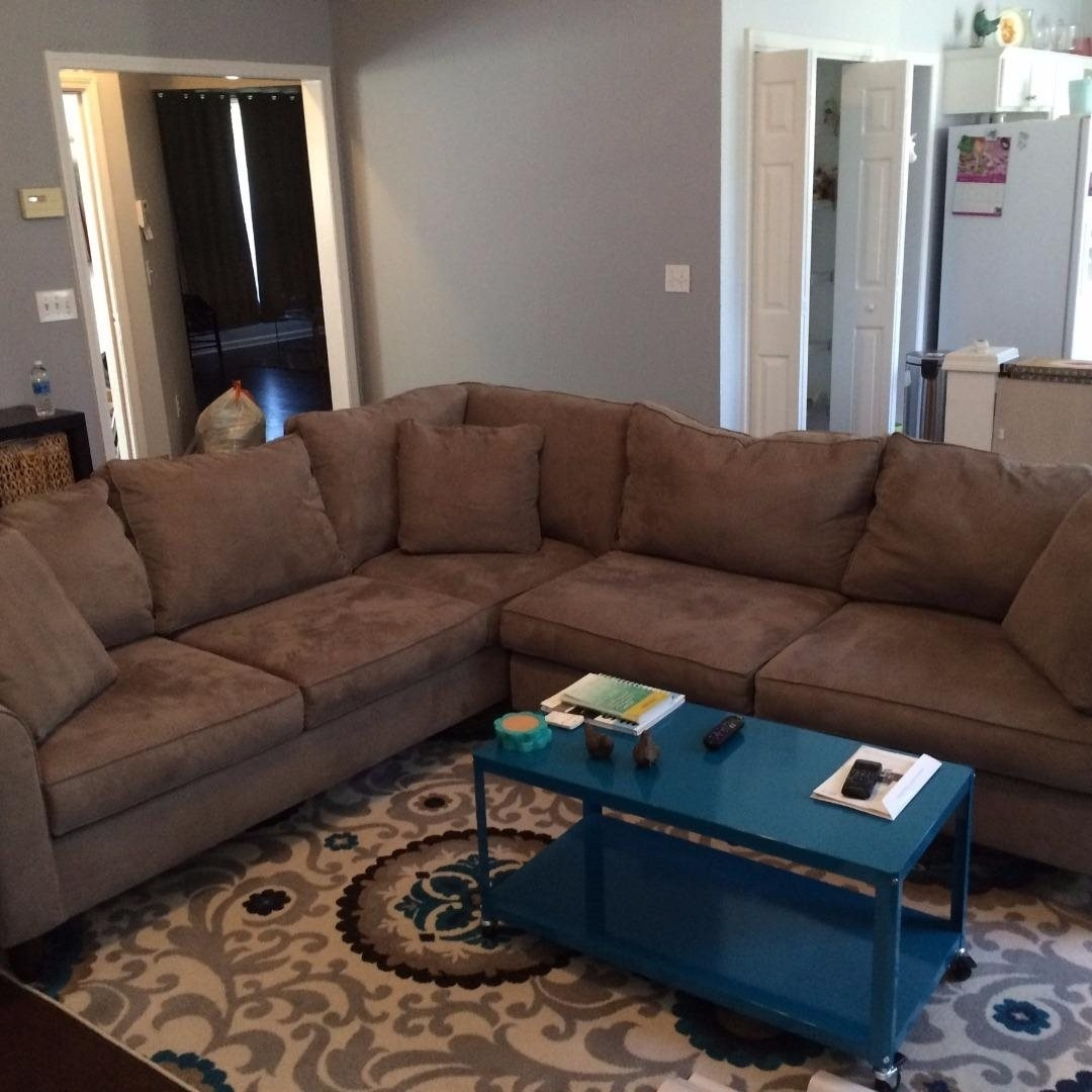 Havertys Mocha Amalfi 2-Piece Sectional Sofa W/ 5-Year Protection with Sectional Sofas at Havertys (Image 11 of 15)