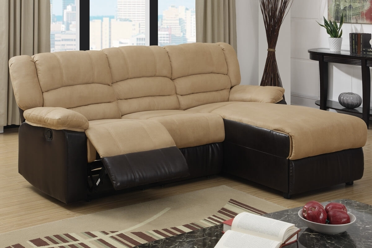 Hazelnut Sectional Sofa Ottoman • Sectional Sofa pertaining to Sectional Sofas Under 800 (Image 4 of 10)