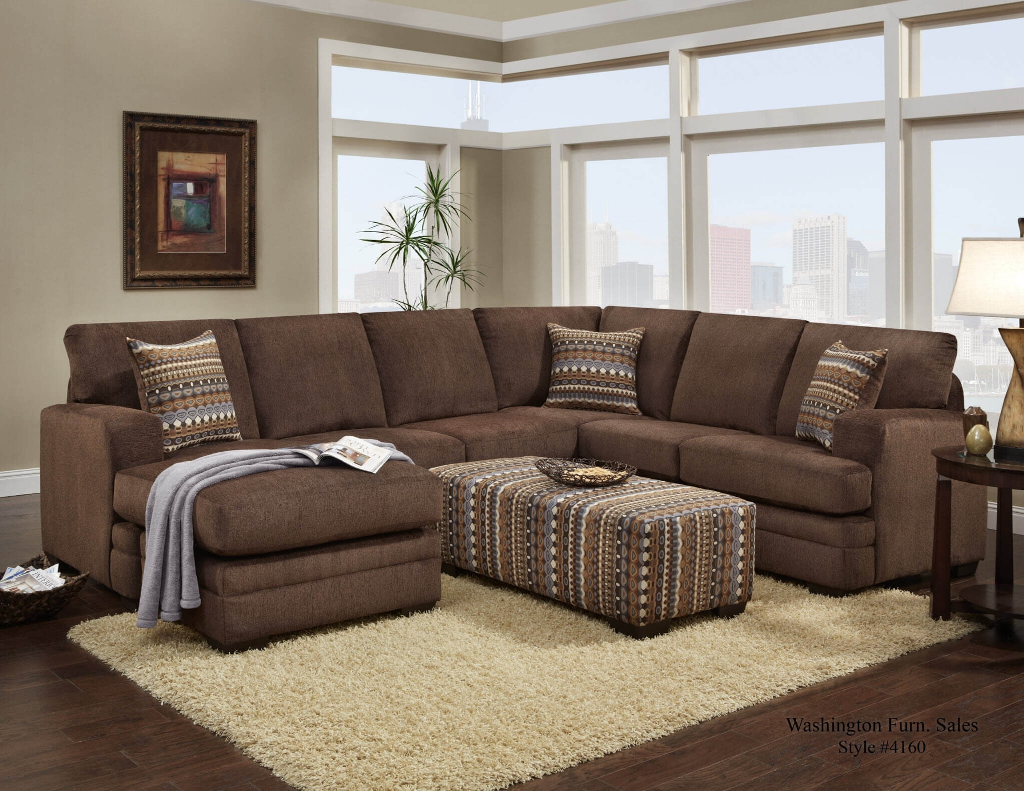Hillel Chocolate Sectional | Sectional Sofa Sets for Chocolate Sectional Sofas (Image 7 of 15)