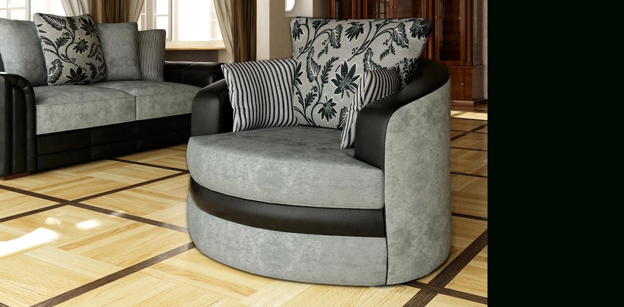 Hilton Swivel Chair Sofa – Chairs Regarding Sofas With Swivel Chair (View 7 of 10)