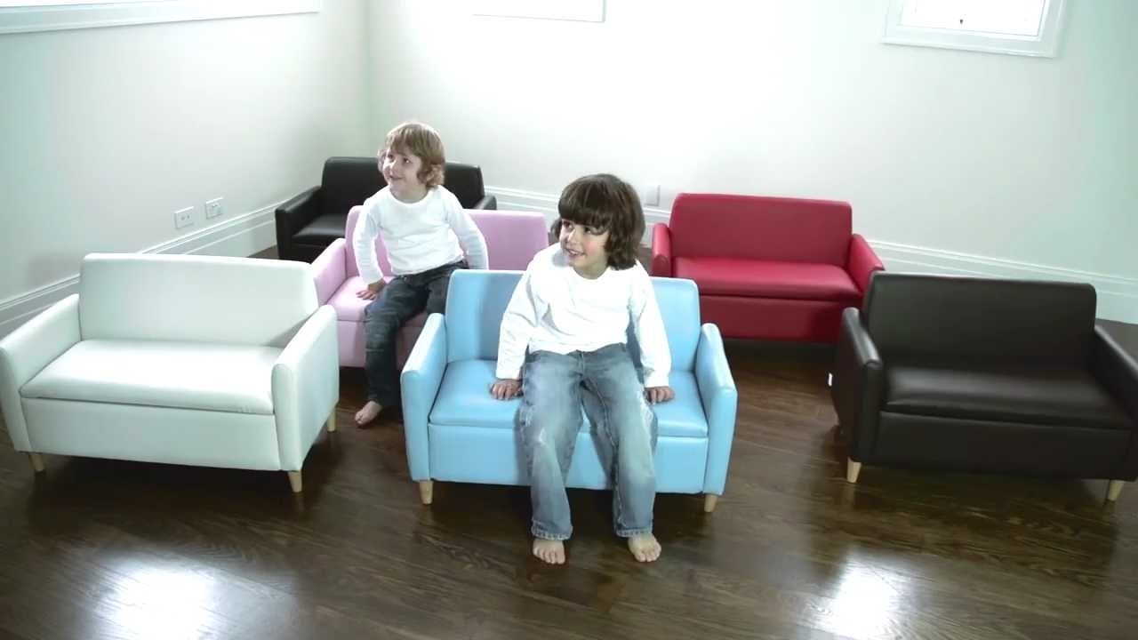 Hip Kids Hudson Sofa Chair W/ Toy Storage | Childrens Couch Sofas within Childrens Sofas (Image 7 of 10)