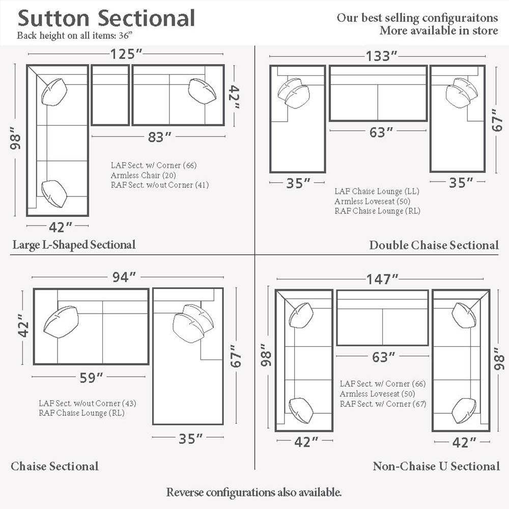 Home Decor Cozy Sectional Sofa Dimensions Sutton U Shaped Together With Sectional Sofas By Size (View 6 of 15)