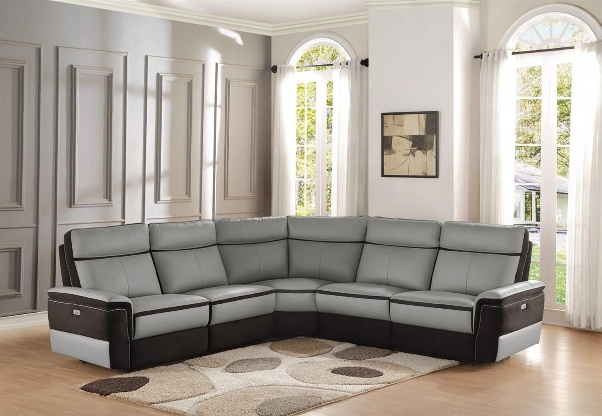 Homelegance Laertes Power Reclining Sectional | Boulevard Home within Reclining Sectional Sofas (Image 7 of 10)