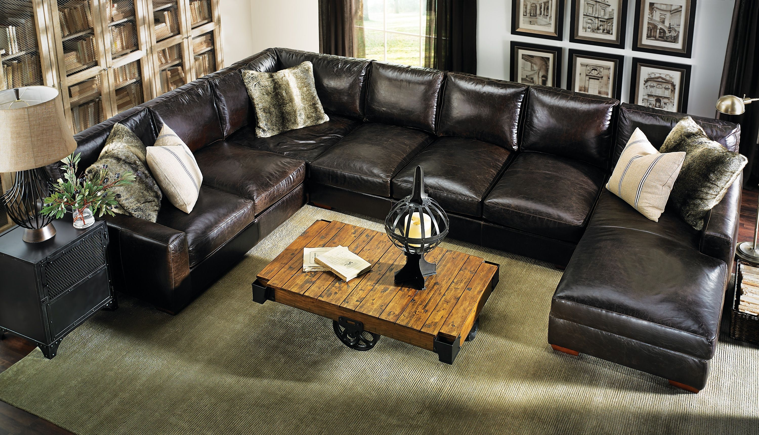 Howard Sectional Sofa #leather #everyonewillfit | Haynes: Living Pertaining To Haynes Sectional Sofas (View 8 of 10)