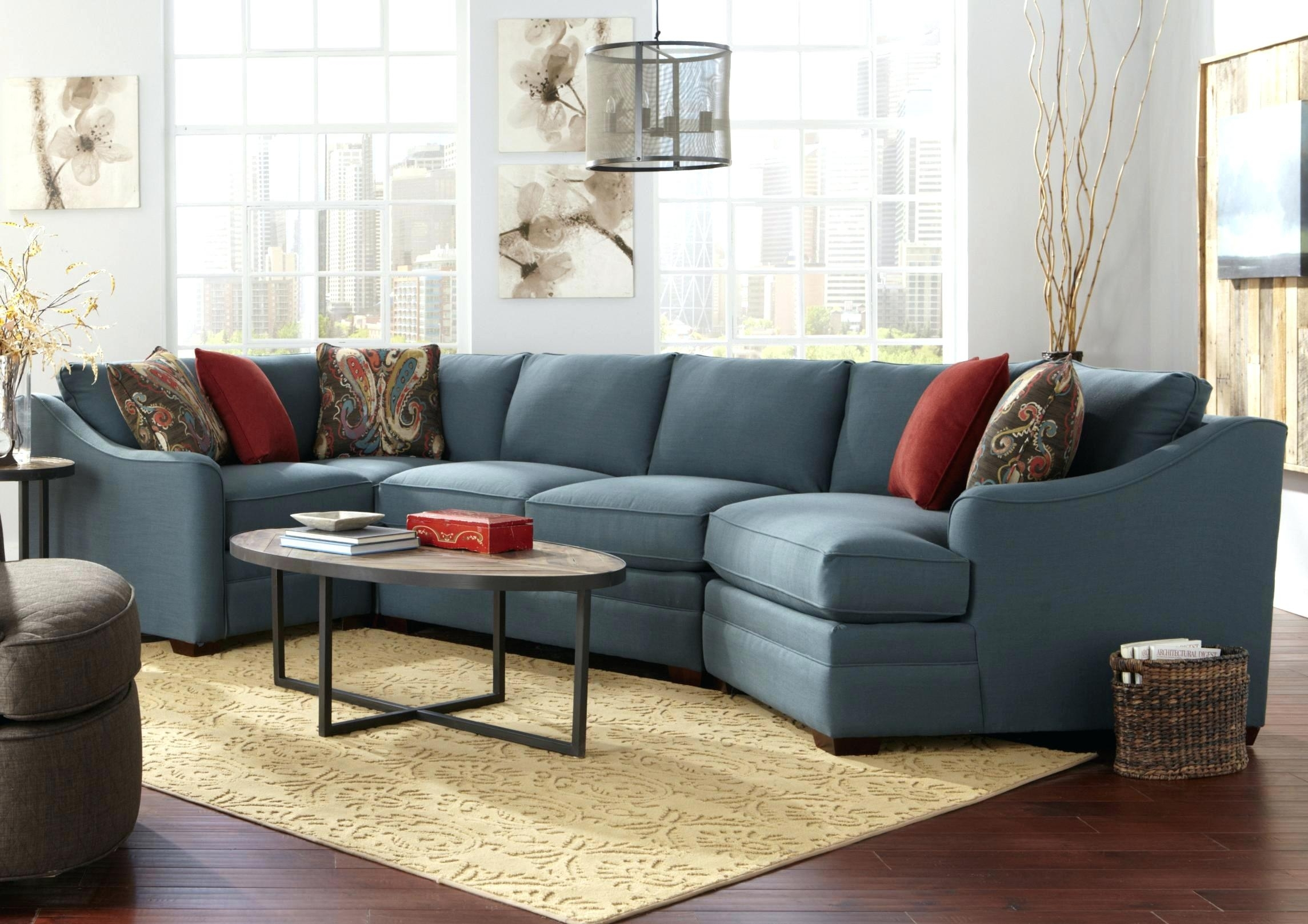 Idea Sectional Couch With Cuddler For Custom Collection Four Piece B With Regard To Sectional Sofas With Cuddler Chaise (View 5 of 10)