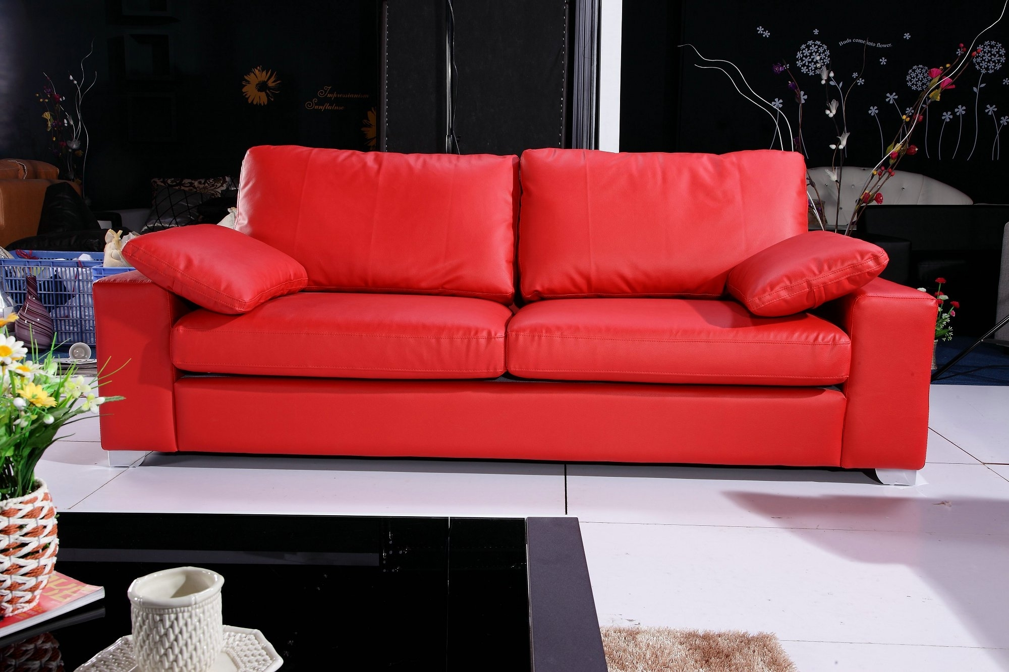 Images About Red Sofa Room On Pinterest Couches And Leather ~ Idolza with Red Leather Couches and Loveseats (Image 5 of 15)