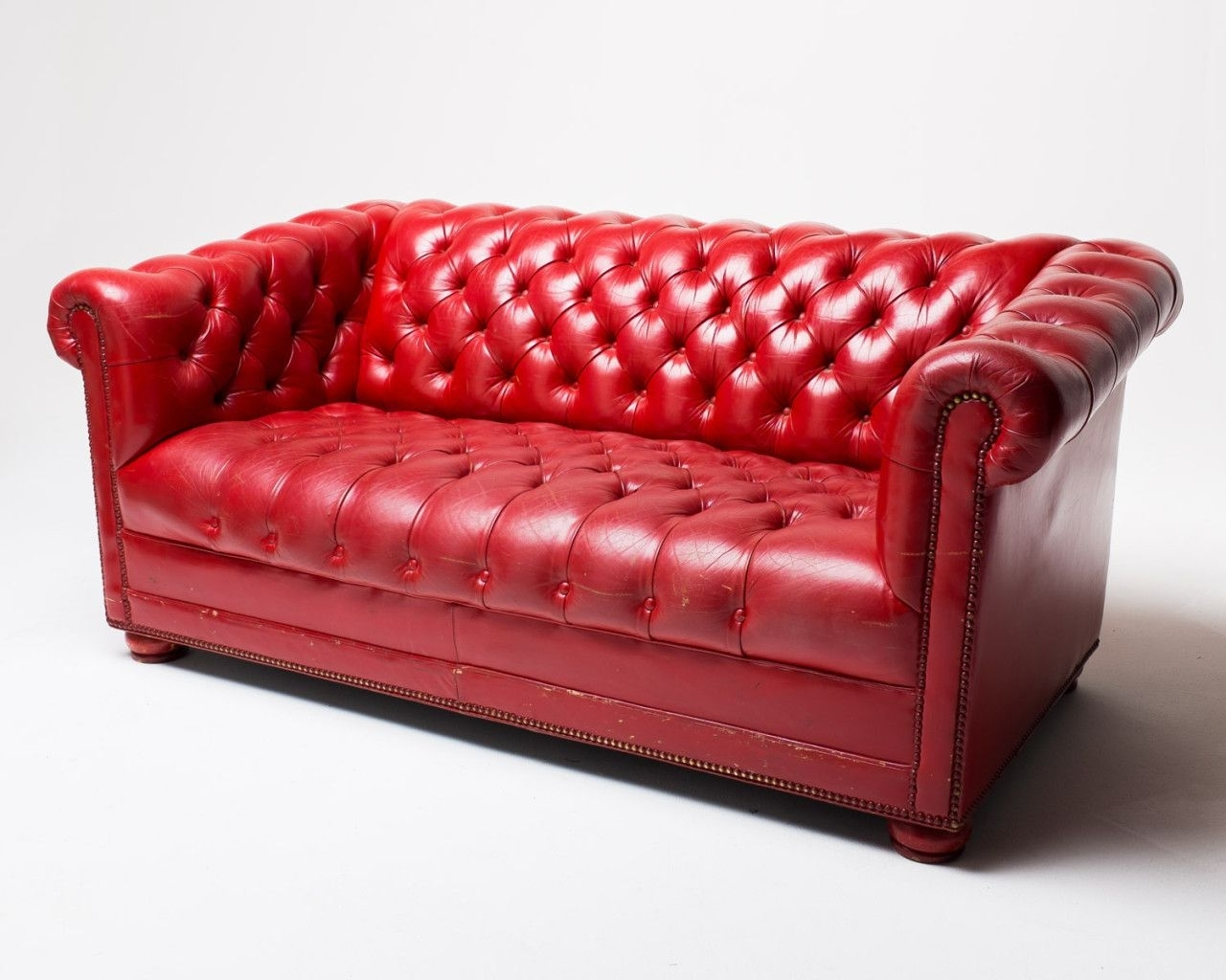 Incredible Co Red Leather Sofa Acme Studio Picture Of Inspiration regarding Red Leather Couches (Image 6 of 15)