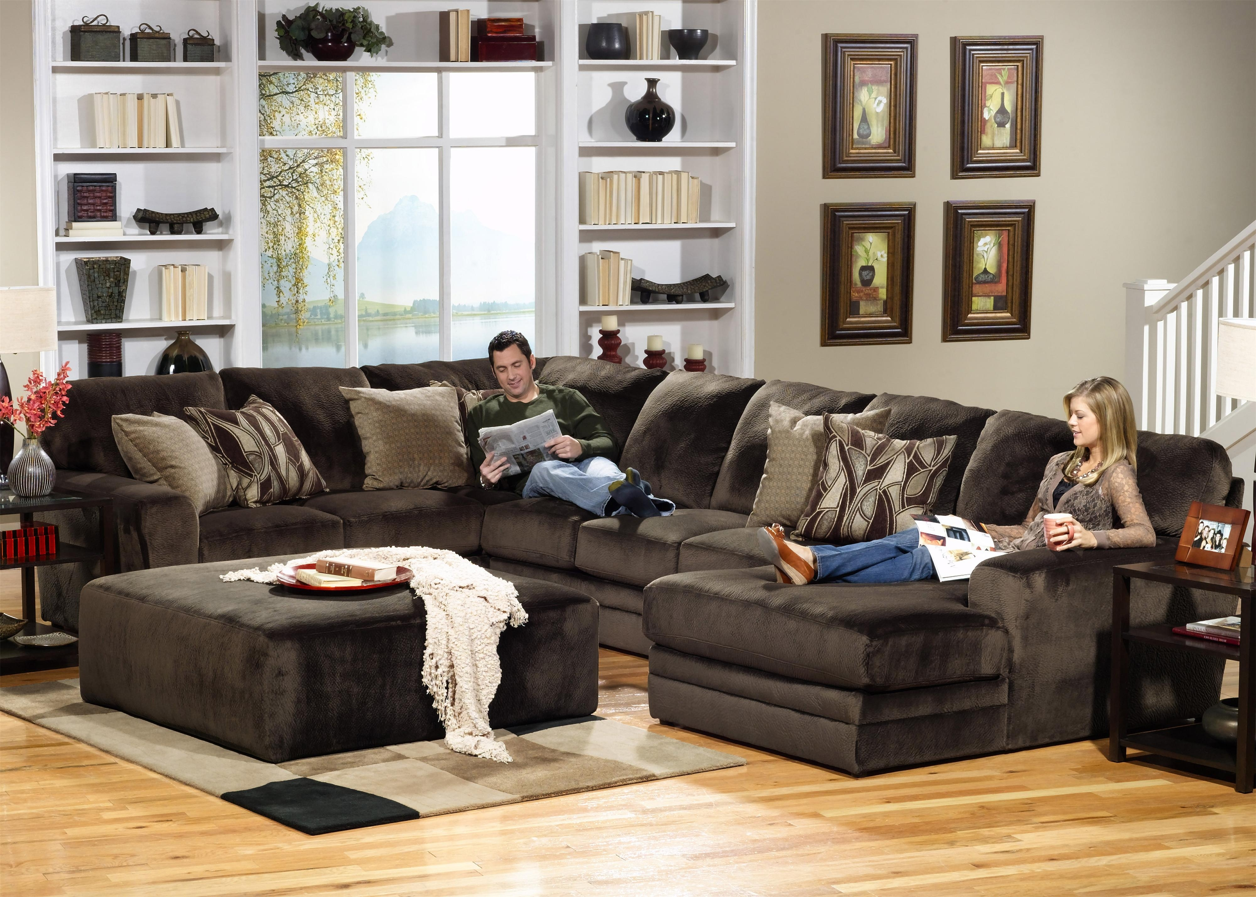 Jackson Furniture 4377 Everest 3 Piece Sectional With Lsf Section in Evansville In Sectional Sofas (Image 7 of 10)