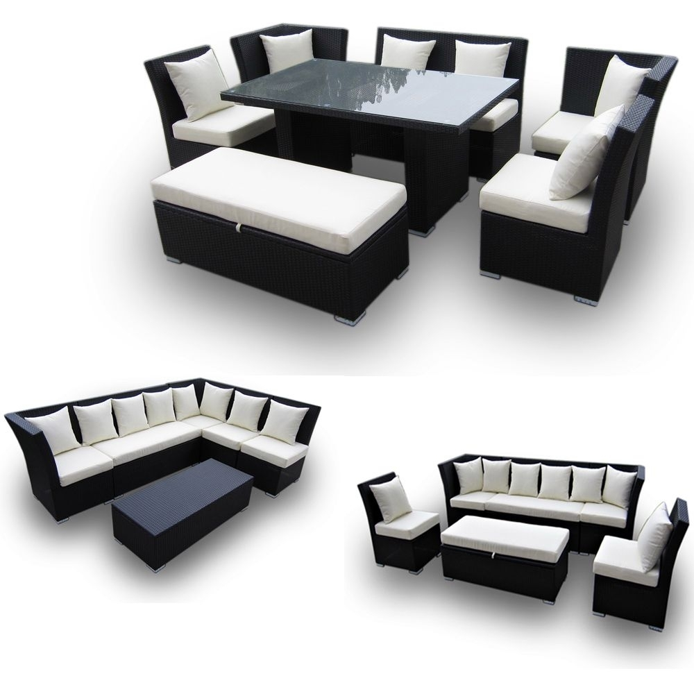 Jamaican Multipurpose Sectional Dining And Sofa Set - Great 2 For 1 in Jamaica Sectional Sofas (Image 4 of 10)