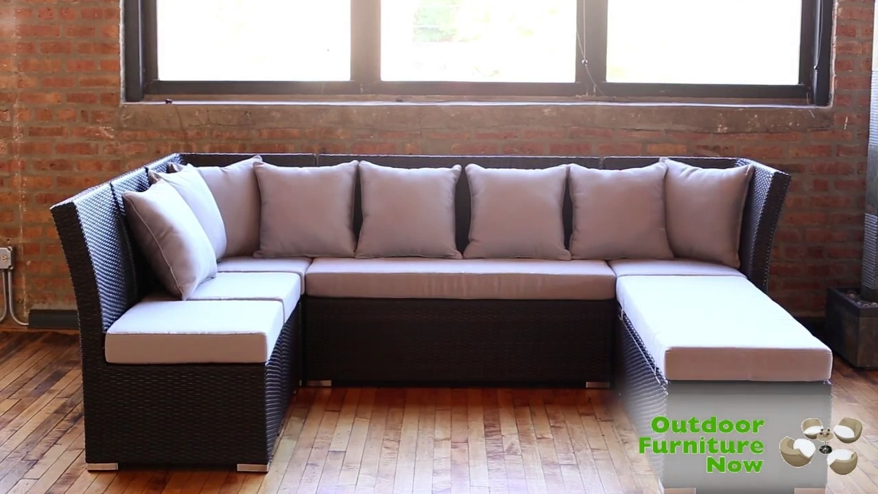 Jamaican Multipurpose Sectional Dining And Sofa Set Wicker Patio inside Jamaica Sectional Sofas (Image 5 of 10)