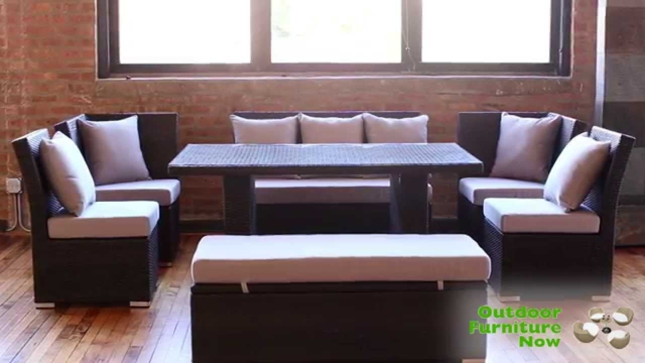 Jamaican Multipurpose Sectional Dining And Sofa Set | Wicker Patio within Jamaica Sectional Sofas (Image 6 of 10)