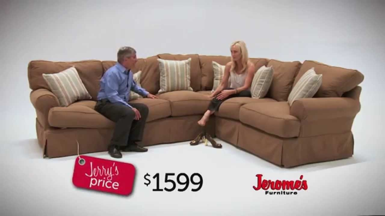 Jerome's Furniture Classic Slipcover Sectional - Youtube throughout Jerome's Sectional Sofas (Image 5 of 10)