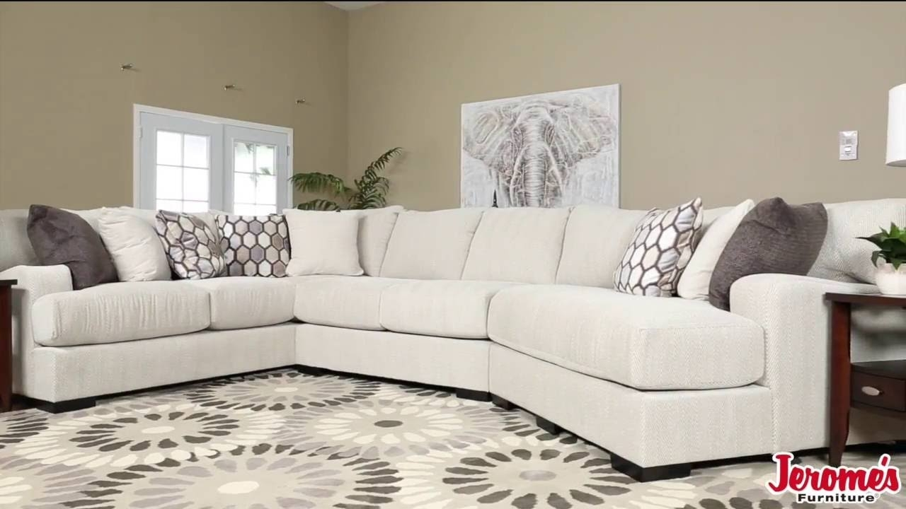 Jerome's Furniture Dunes Sectional - Youtube with Jerome's Sectional Sofas (Image 6 of 10)