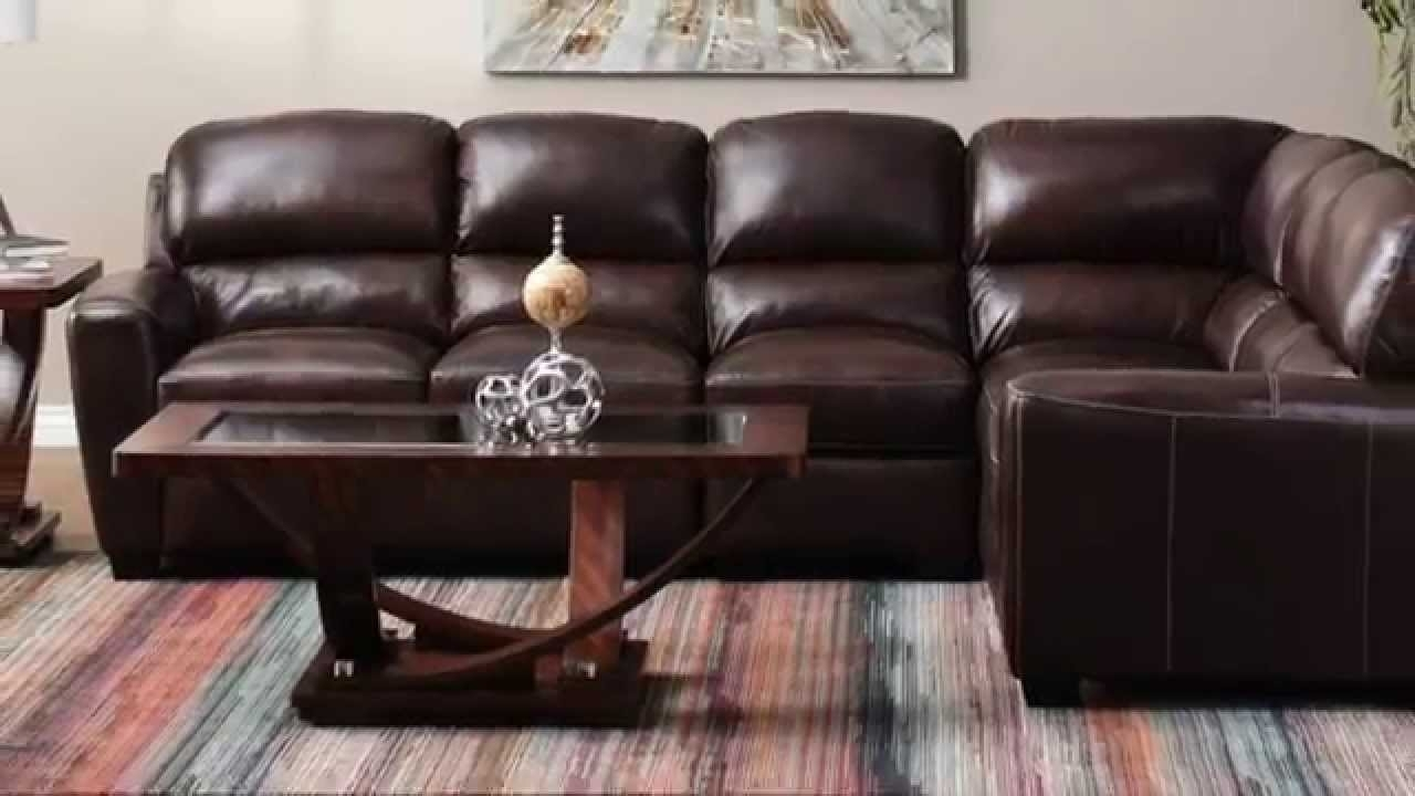 Jerome's Furniture - Tuscany Leather Sectional - Youtube intended for Jerome's Sectional Sofas (Image 4 of 10)
