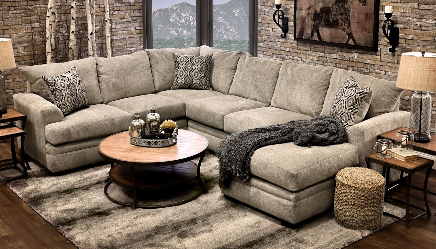 Jillian Platinumshot Fabric Sectional Sofa Fantastic Home Zone pertaining to Home Zone Sectional Sofas (Image 6 of 10)