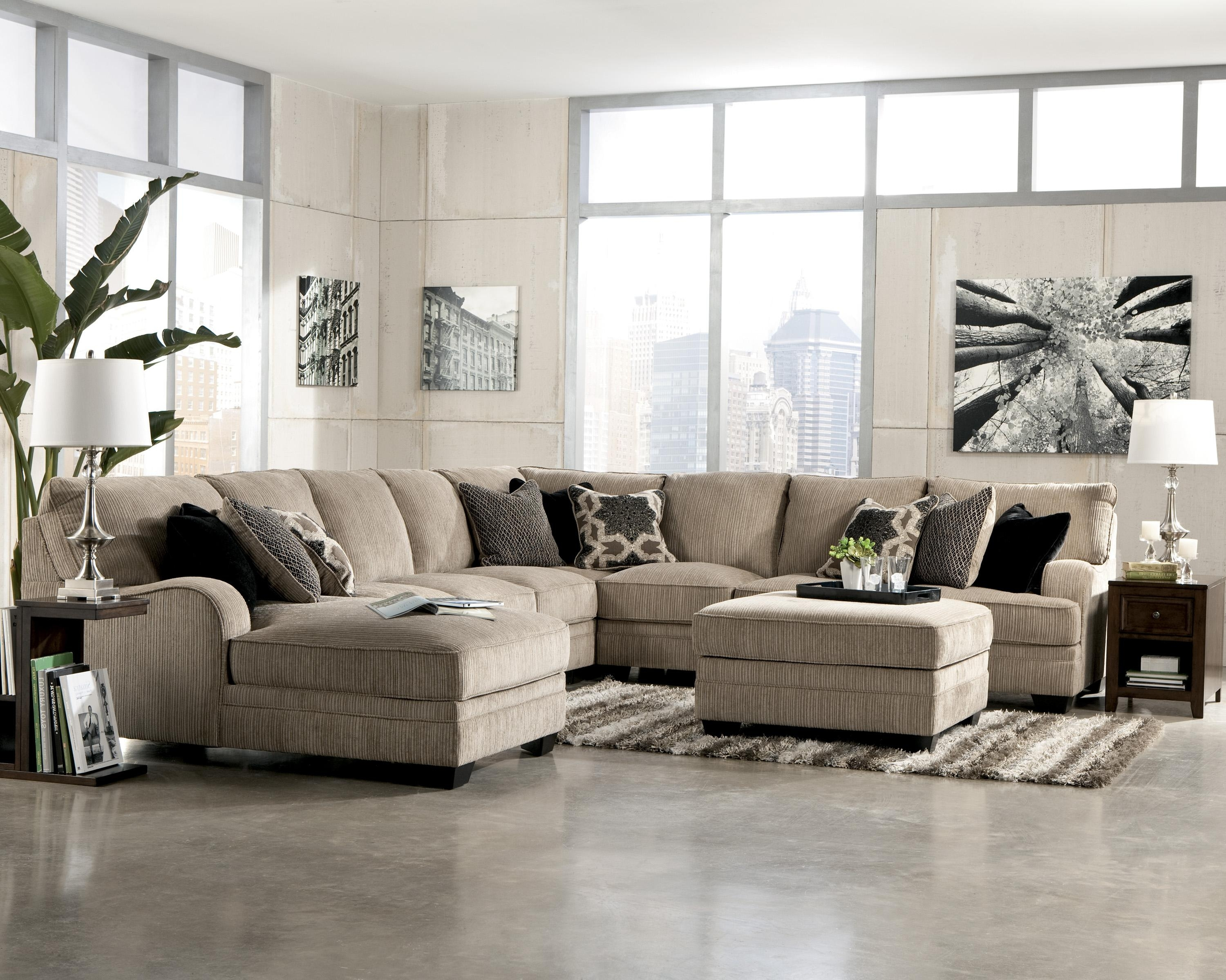 Katisha   Platinum 5 Piece Sectional Sofa With Left Chaise Inside Jackson Ms Sectional Sofas (Photo 5 of 10)