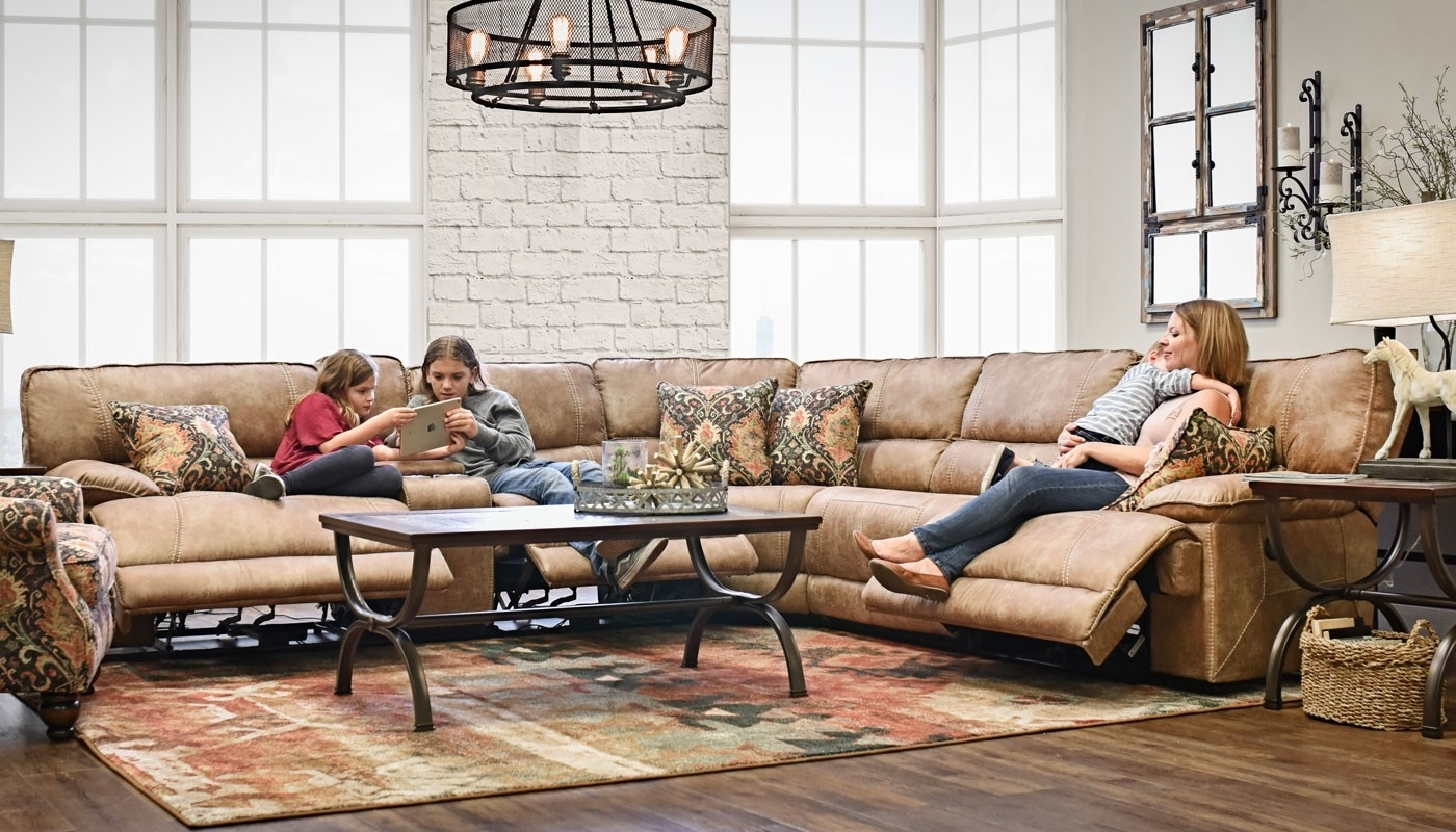 Kennedy Brown Sectional - Home Zone Furniture | Living Room throughout Home Zone Sectional Sofas (Image 7 of 10)