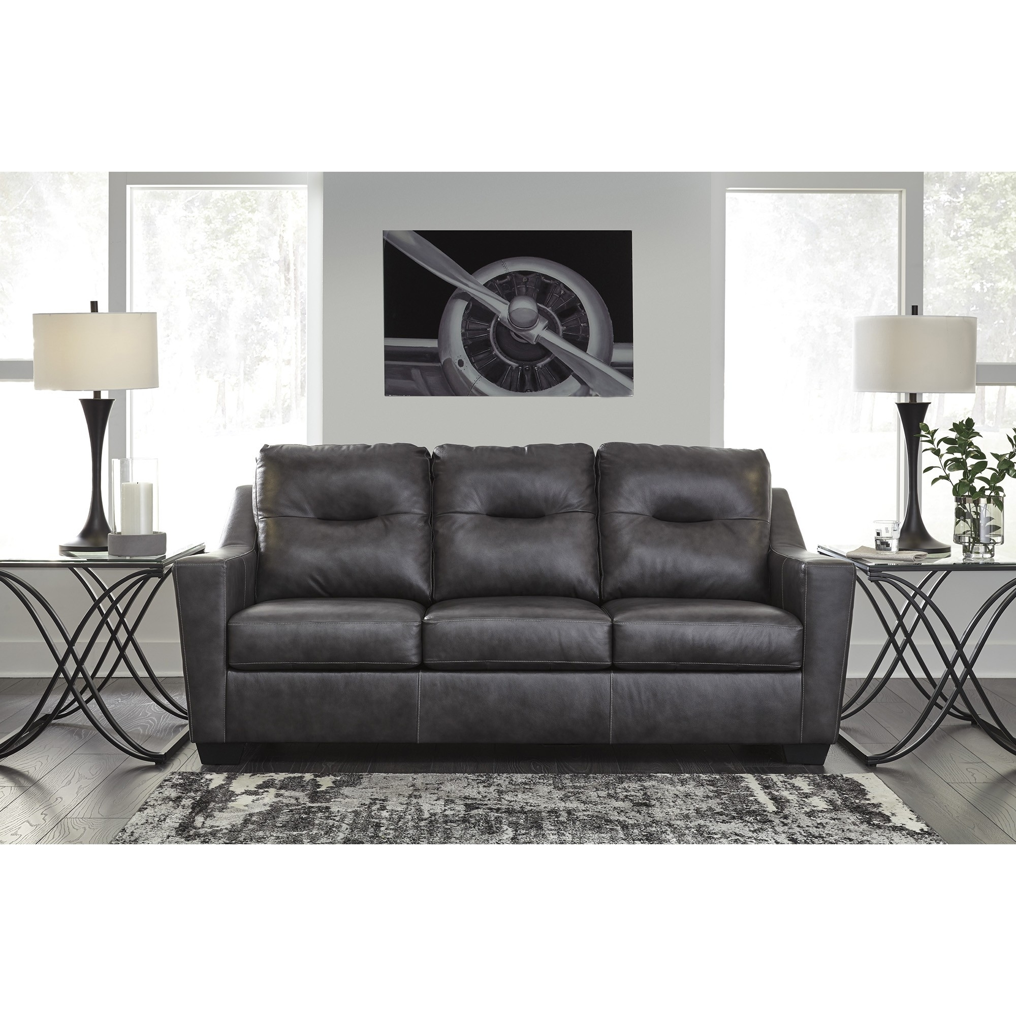 Kensbridge Sofa   Charcoal | Tepperman's For Teppermans Sectional Sofas (Photo 7 of 10)