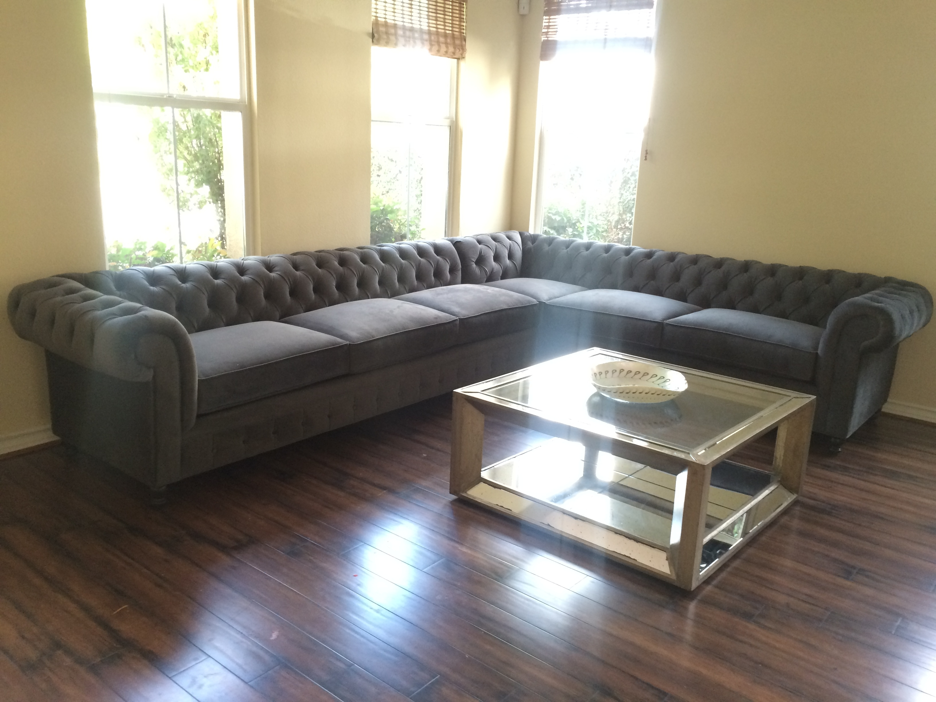 Kenzie Style ! Custom Chesterfield Sofa Or Sectional. Leather Or Throughout Houzz Sectional Sofas (Gallery 5 of 10)