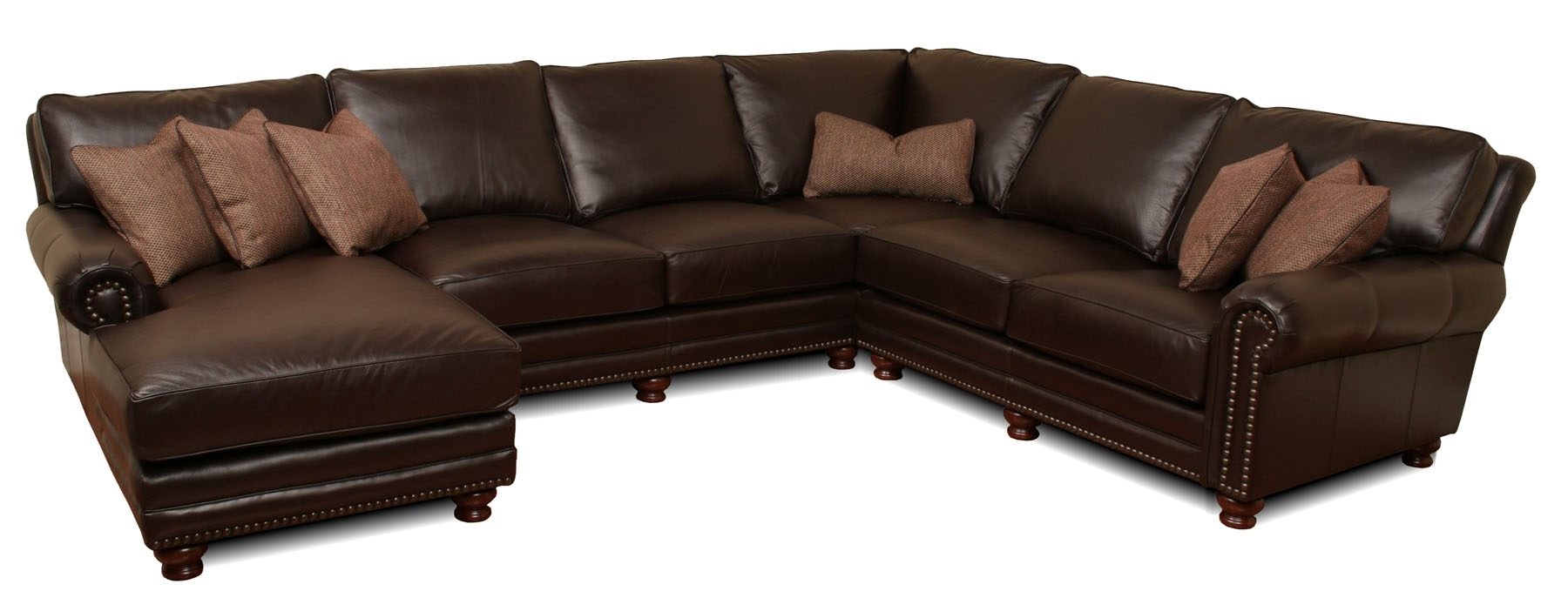 Kingston - Deep Leather Sectional | Leather Creations Furniture throughout Kingston Sectional Sofas (Image 2 of 10)